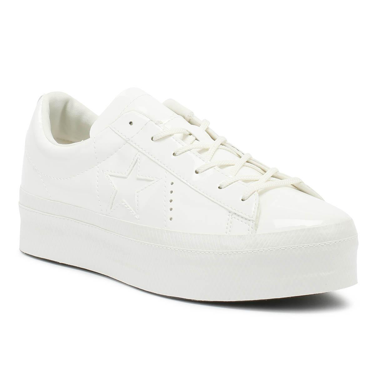 42eead690a1 Lyst - Converse One Star Womens Vintage White Platform Ox Trainers ...