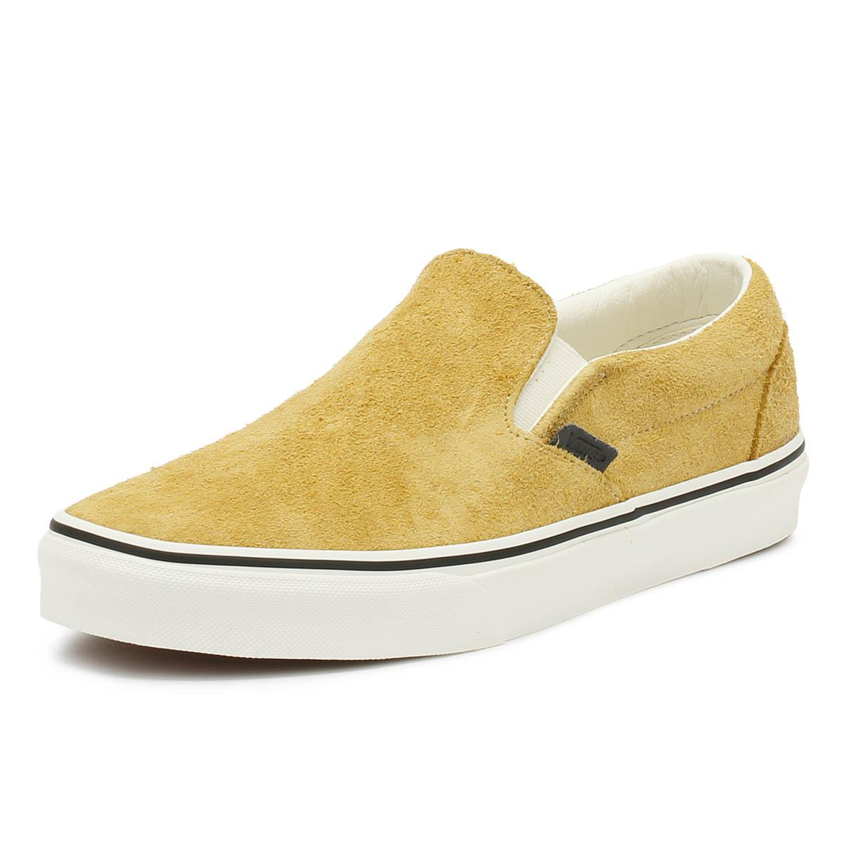 8190192b06f07a Vans - Natural Classic Slip On Hairy Suede Mens Sunflower Beige Trainers  for Men - Lyst. View fullscreen