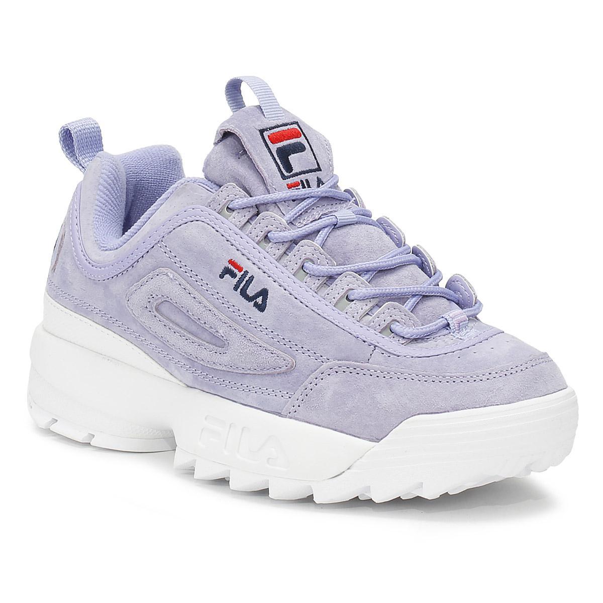 34254ab3d628 Lyst - Fila Disruptor Ii Womens Sweet Lavender Premium Suede ...