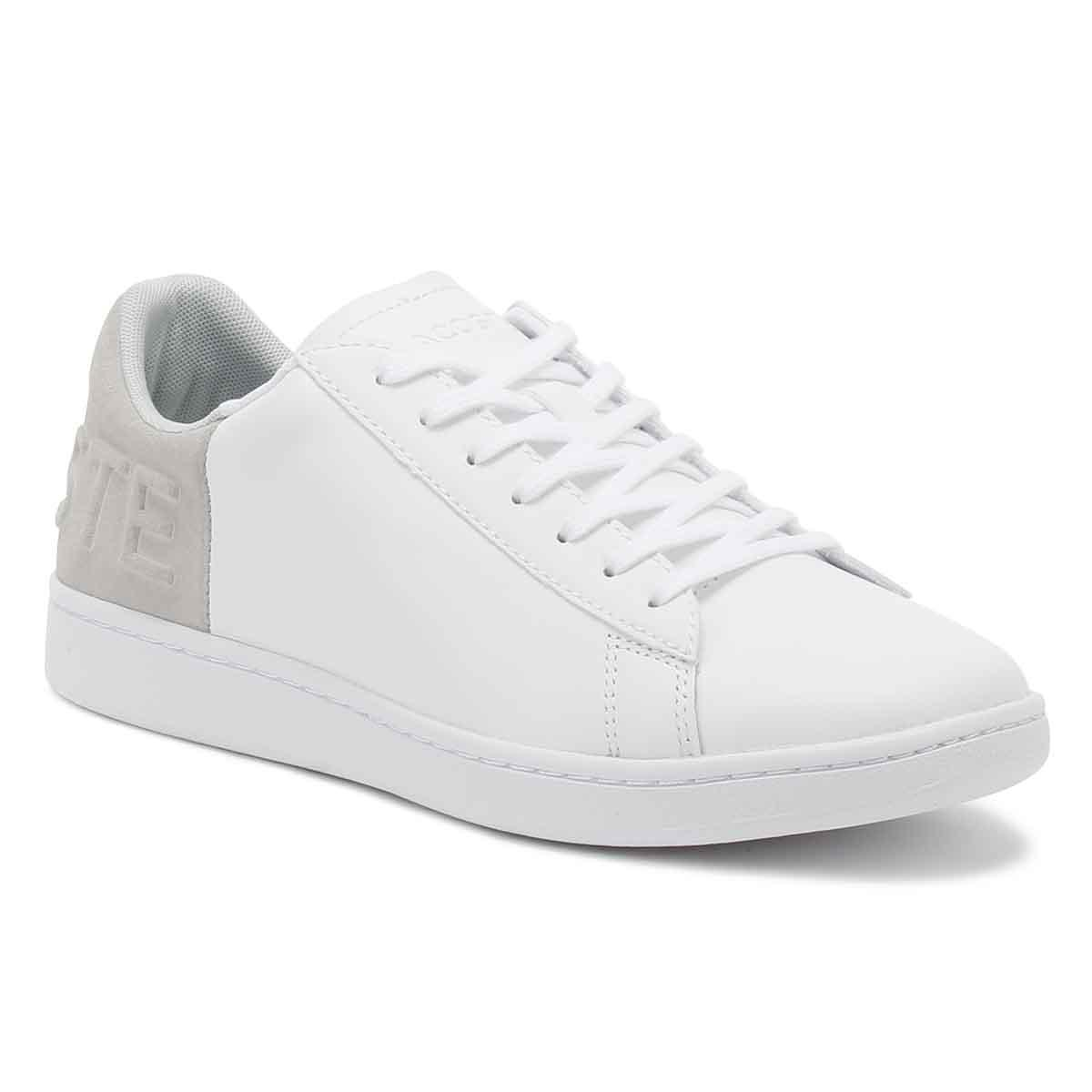 ff17227124be7 Lyst - Lacoste Womens White   Light Grey Carnaby Evo 318 3 Trainers ...