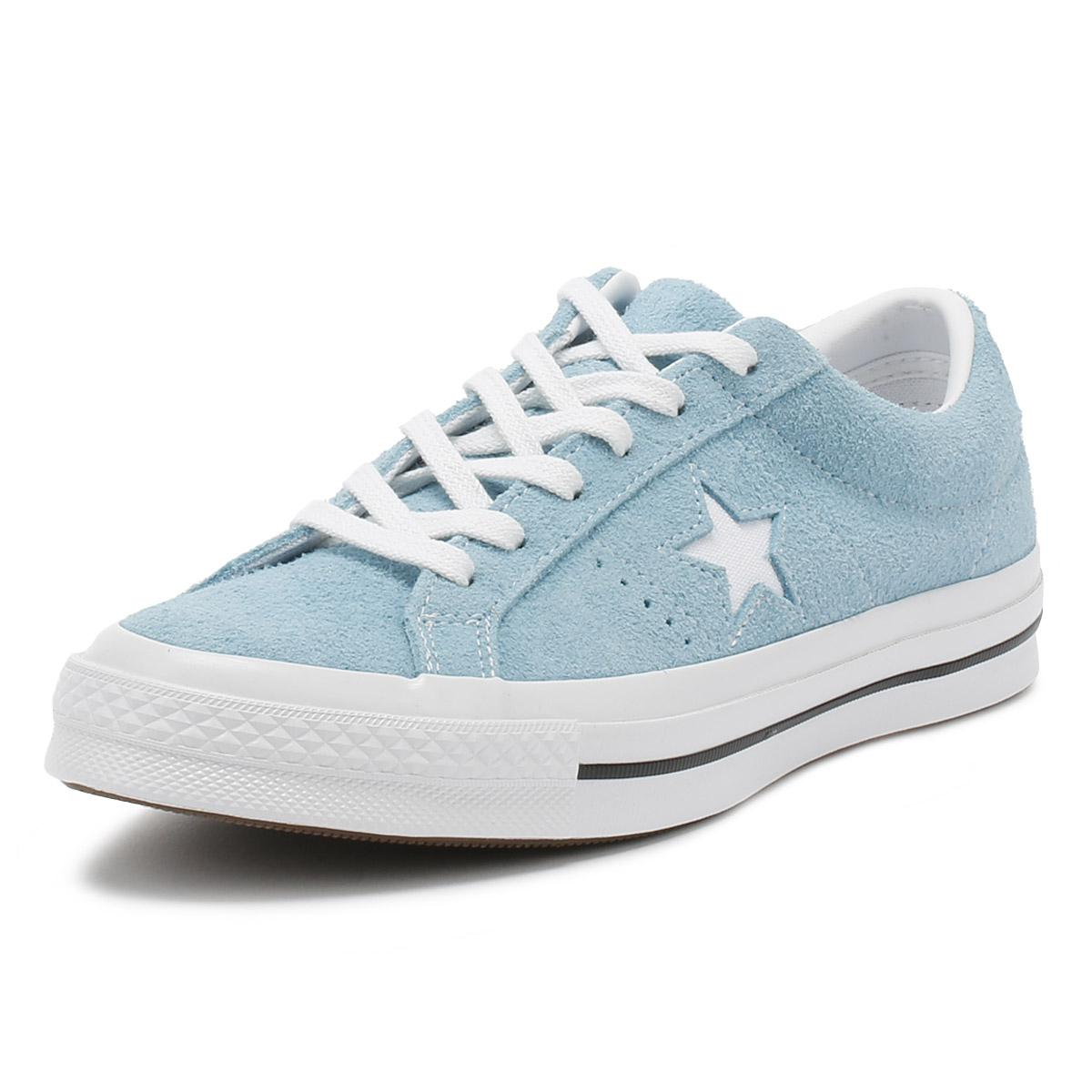 ee4dfbc52461 Converse One Star Mens Shoreline Blue Suede Ox Trainers in Blue for ...