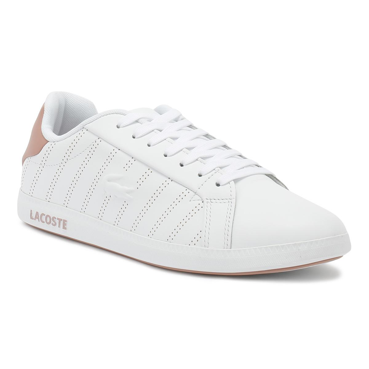78c0d60f78b Lacoste - Womens White   Pink Graduate 318 1 Trainers - Lyst. View  fullscreen