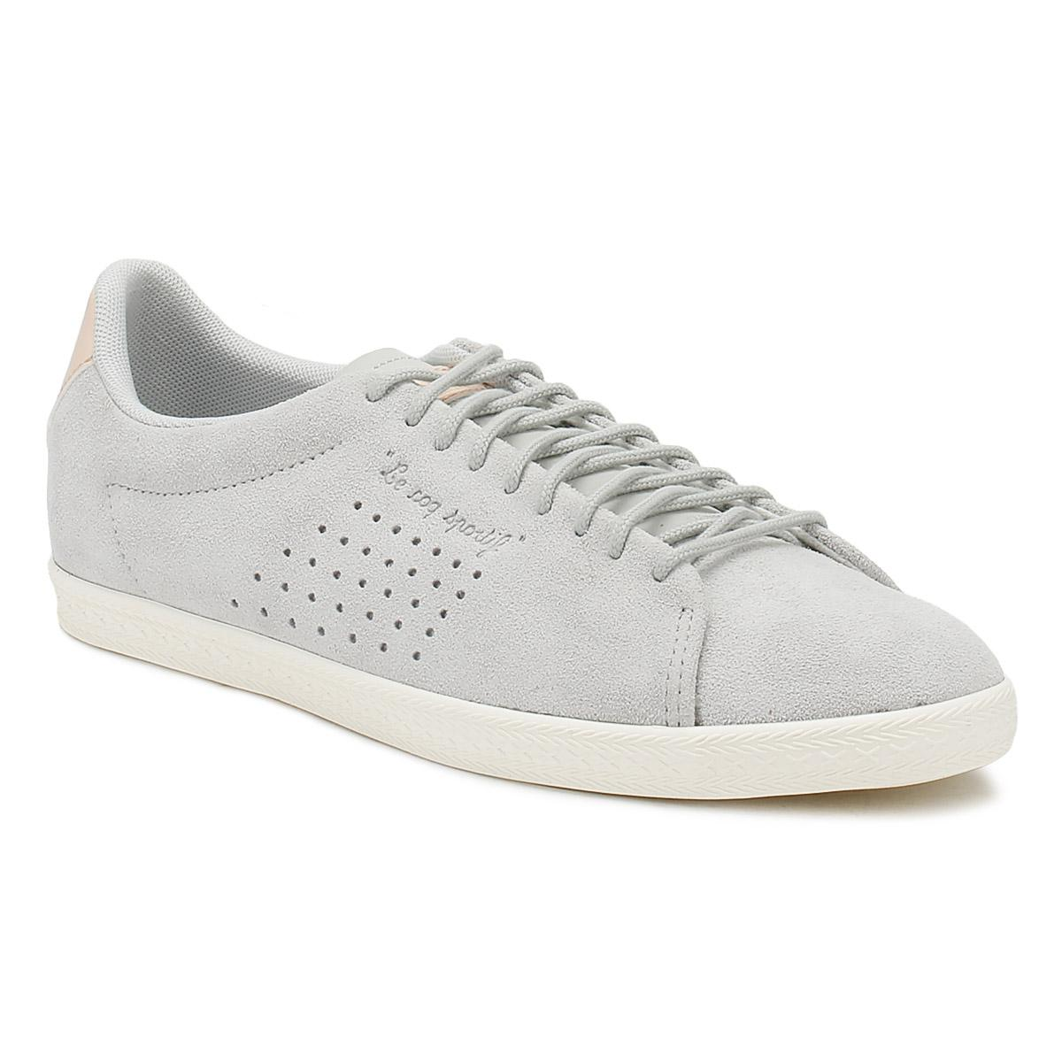 07943edd81e2 Le Coq Sportif Womens Galet Grey Charline Trainers in Gray - Save 39 ...
