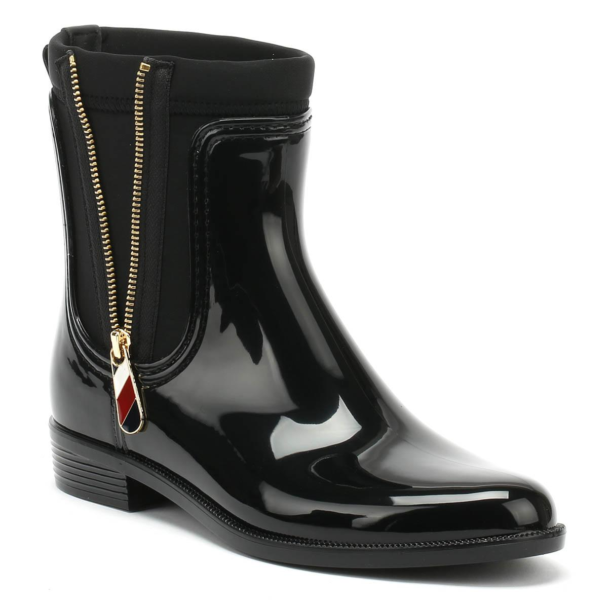 ea54d77e43bf Lyst - Tommy Hilfiger Material Mix Rain Boot Women s Wellington ...