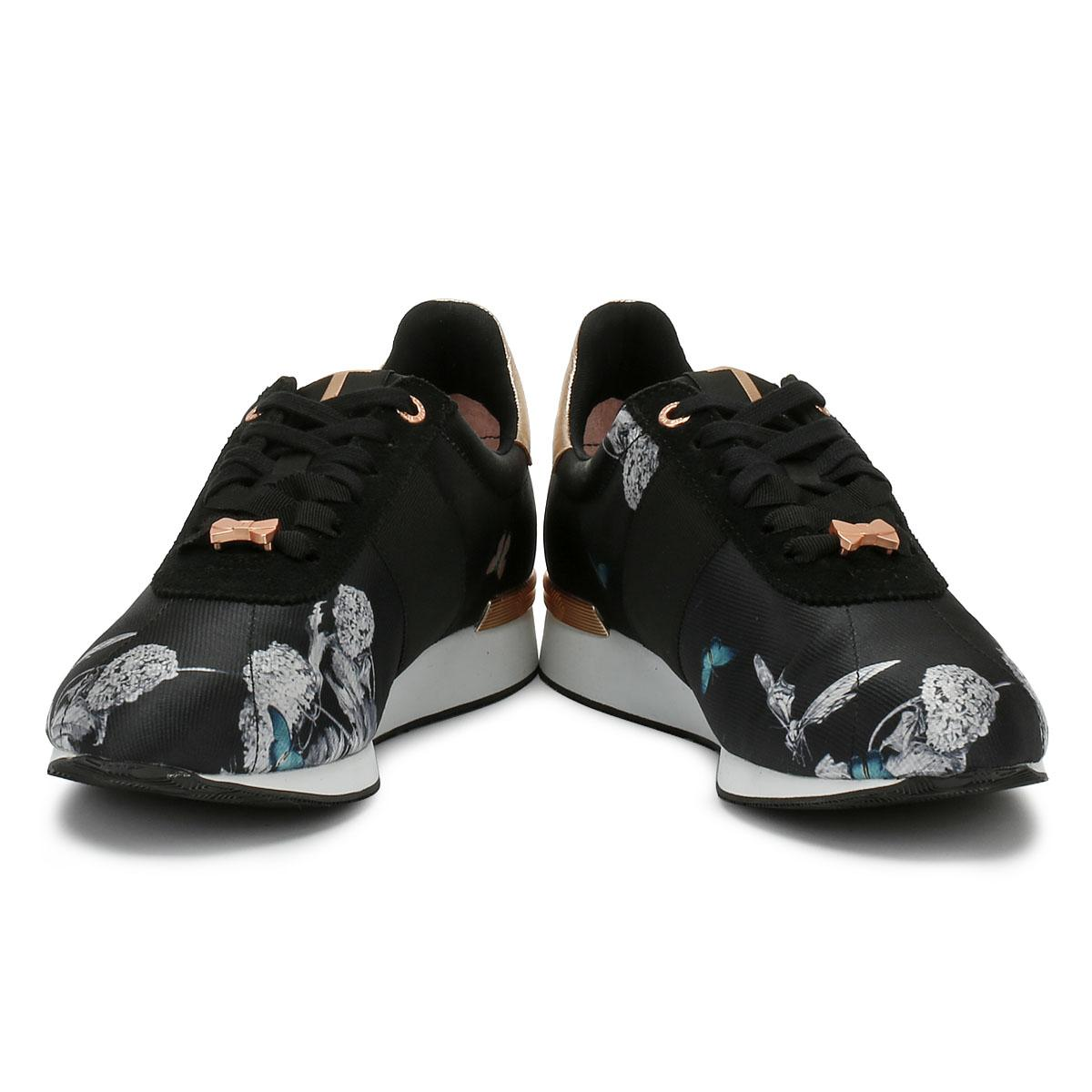 98fbcc5abe6d Lyst - Ted Baker Emileio Womens Black Narnia Jacquard Trainers in Black