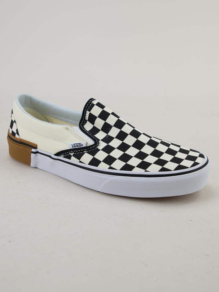 Vans Classic Slip-on (gum Block) Checkerboard Trainers for Men ... 55d59fe79