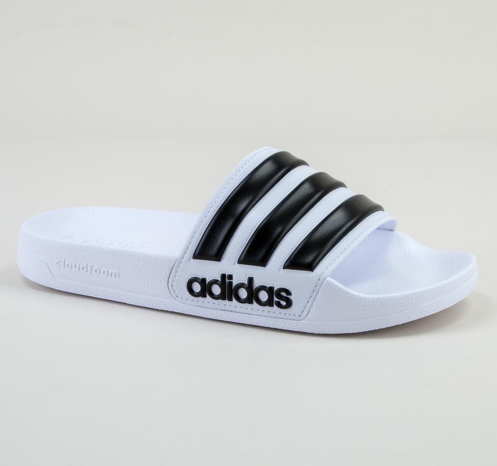 fe30cb931301df Adidas - Blue Adilette Shower Aq1702 Wht-blk-wht Sandals for Men - Lyst. View  fullscreen