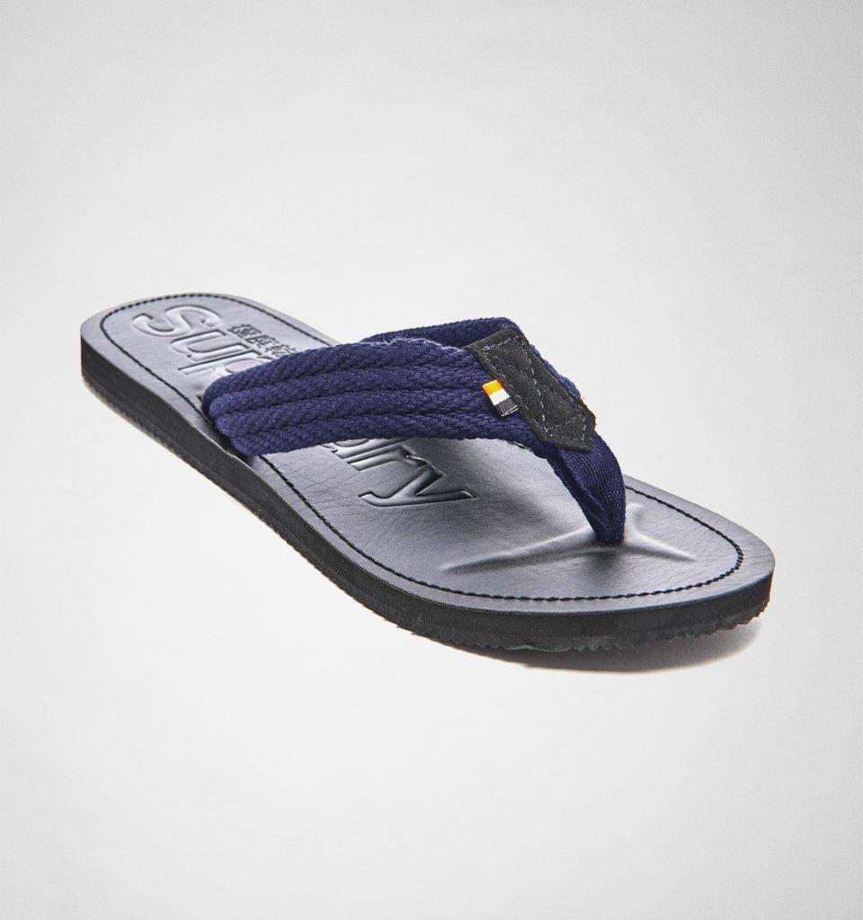 f9bc7dfcbe693 Superdry - Blue Cove Sandal Black-navy Flip Flops for Men - Lyst. View  fullscreen