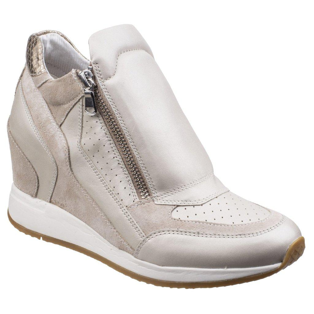 f727f34ca01 Geox Nydame Casual Velcro Platinum/light Taupe Shoes - Lyst