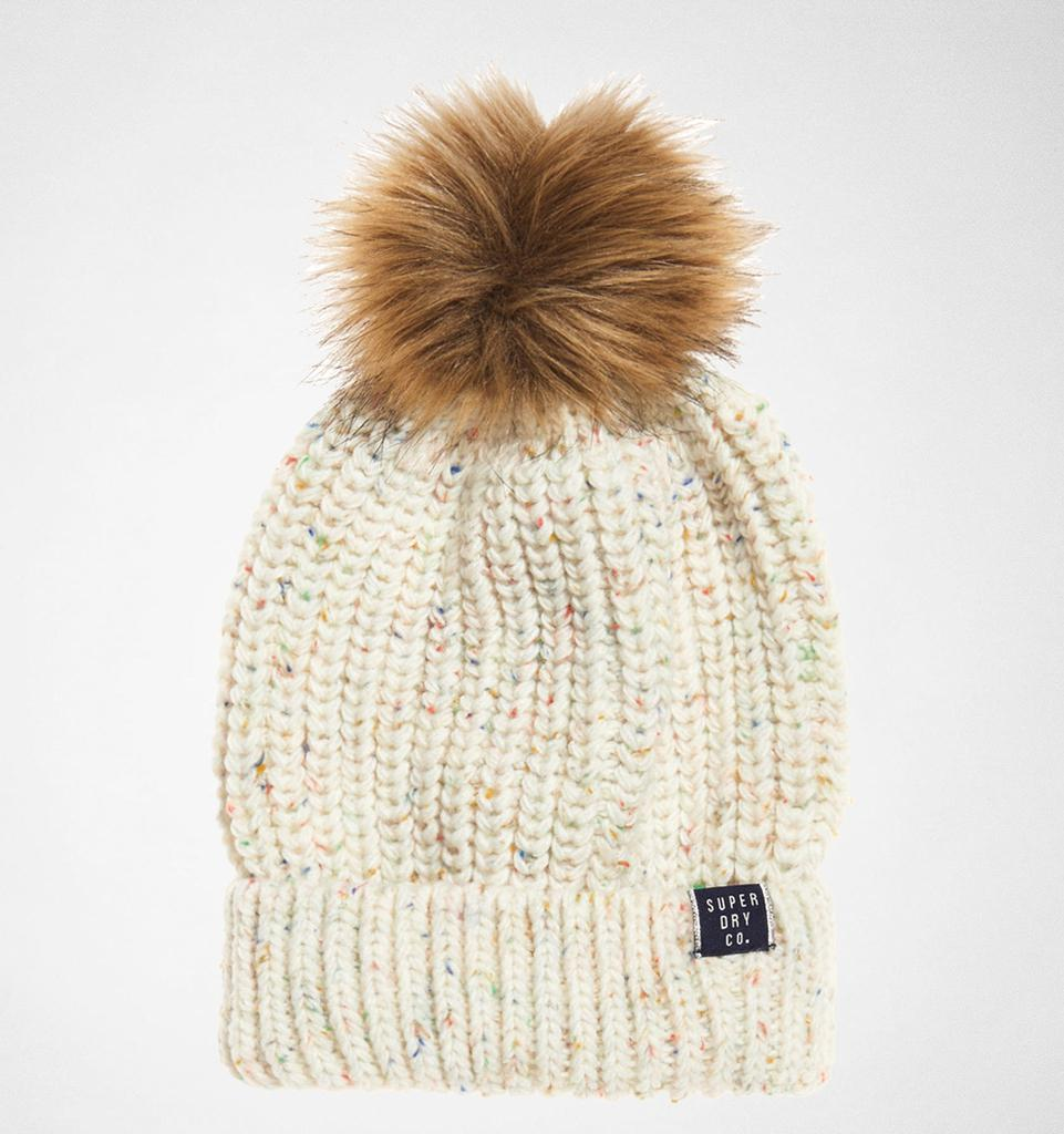 0e4247e081190 Superdry Zoe Nep Beanie Hats in Natural - Lyst