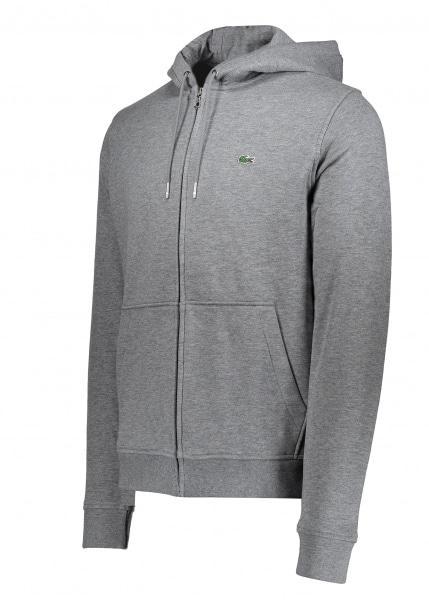 a3fbfd0de1ce Lacoste Hooded Zip Jacket in Gray for Men - Lyst