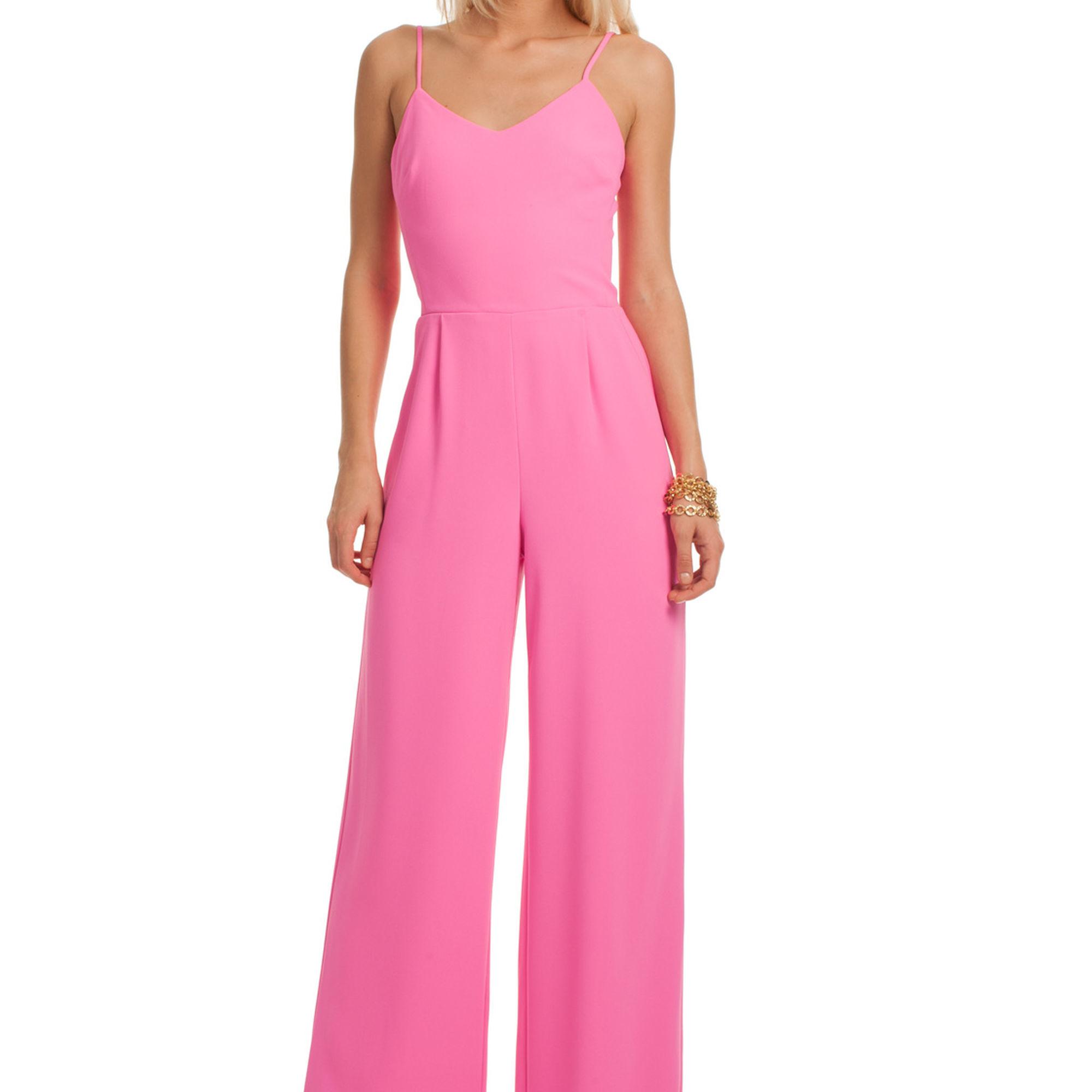 2f1779bb7d37 Lyst - Trina Turk Zadie Crepe Jumpsuit in Pink