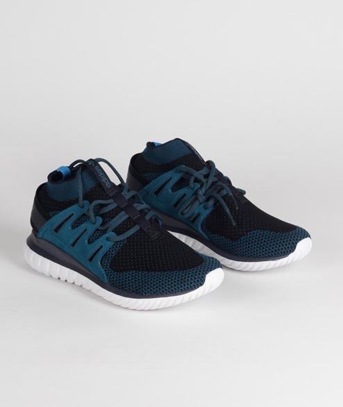 ba3920207139 adidas Black Mineral Suede Originals Tubular Nova Pk Shoes in Blue for Men  - Lyst