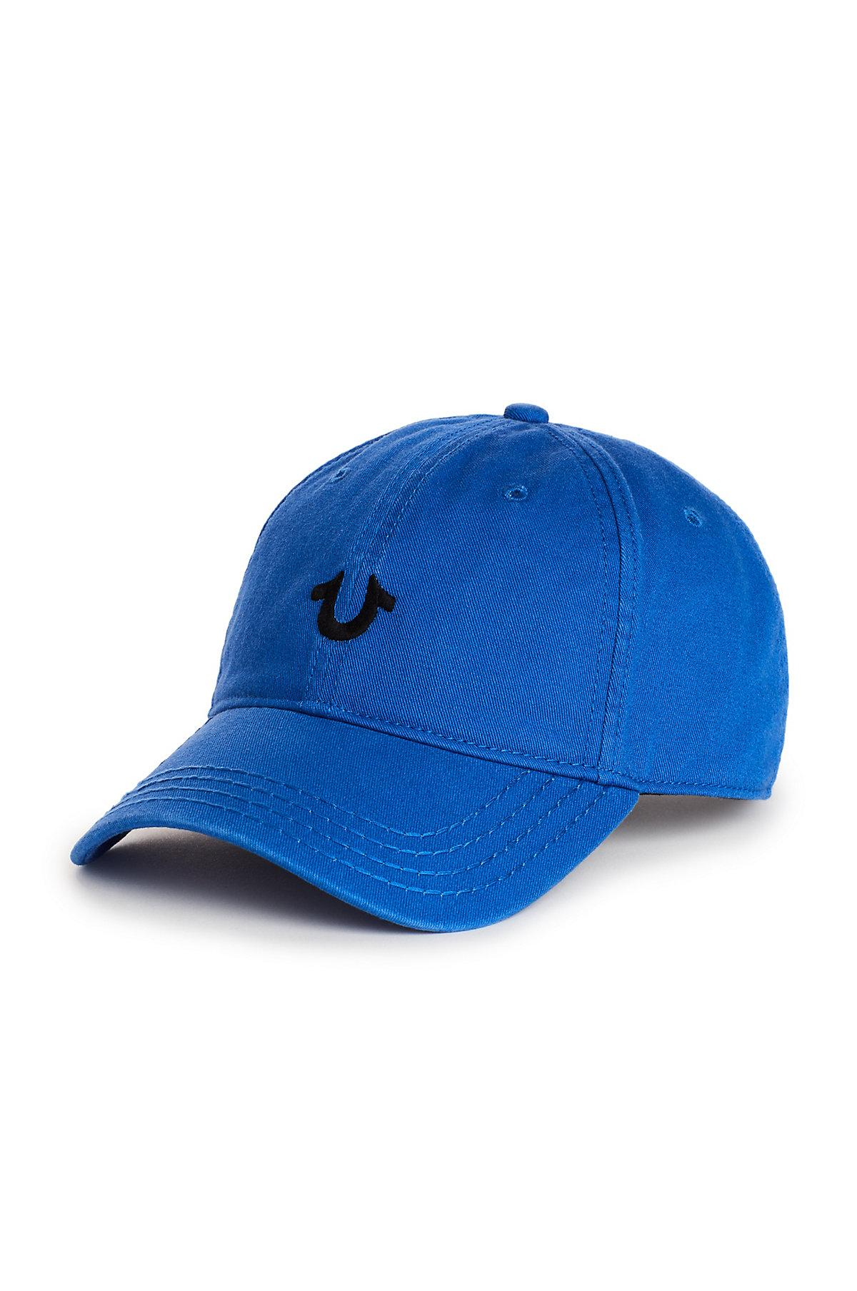 5418ee9c3b94a Lyst - True Religion Core Logo Baseball Cap in Blue for Men