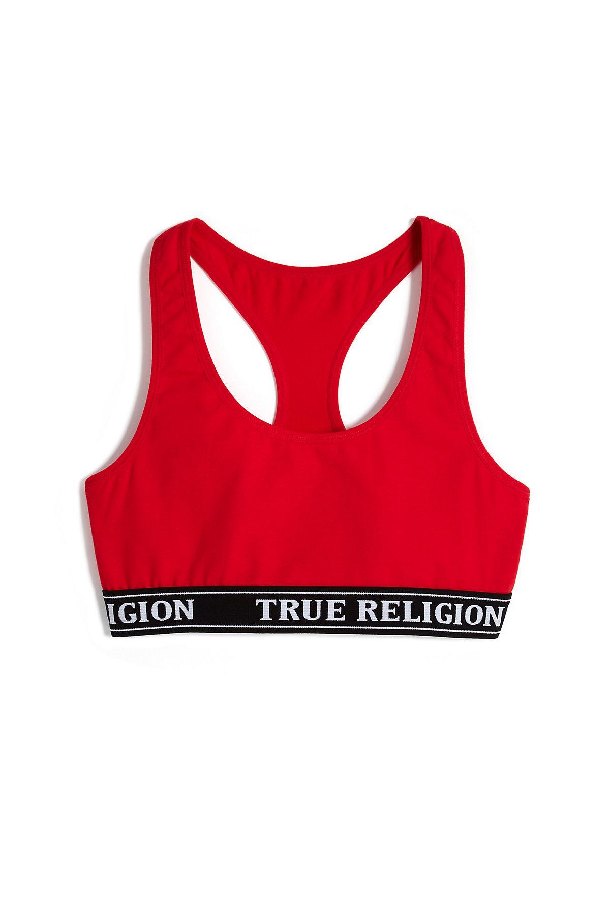 cc6f1824fc True Religion - Red Bralette - Lyst. View fullscreen