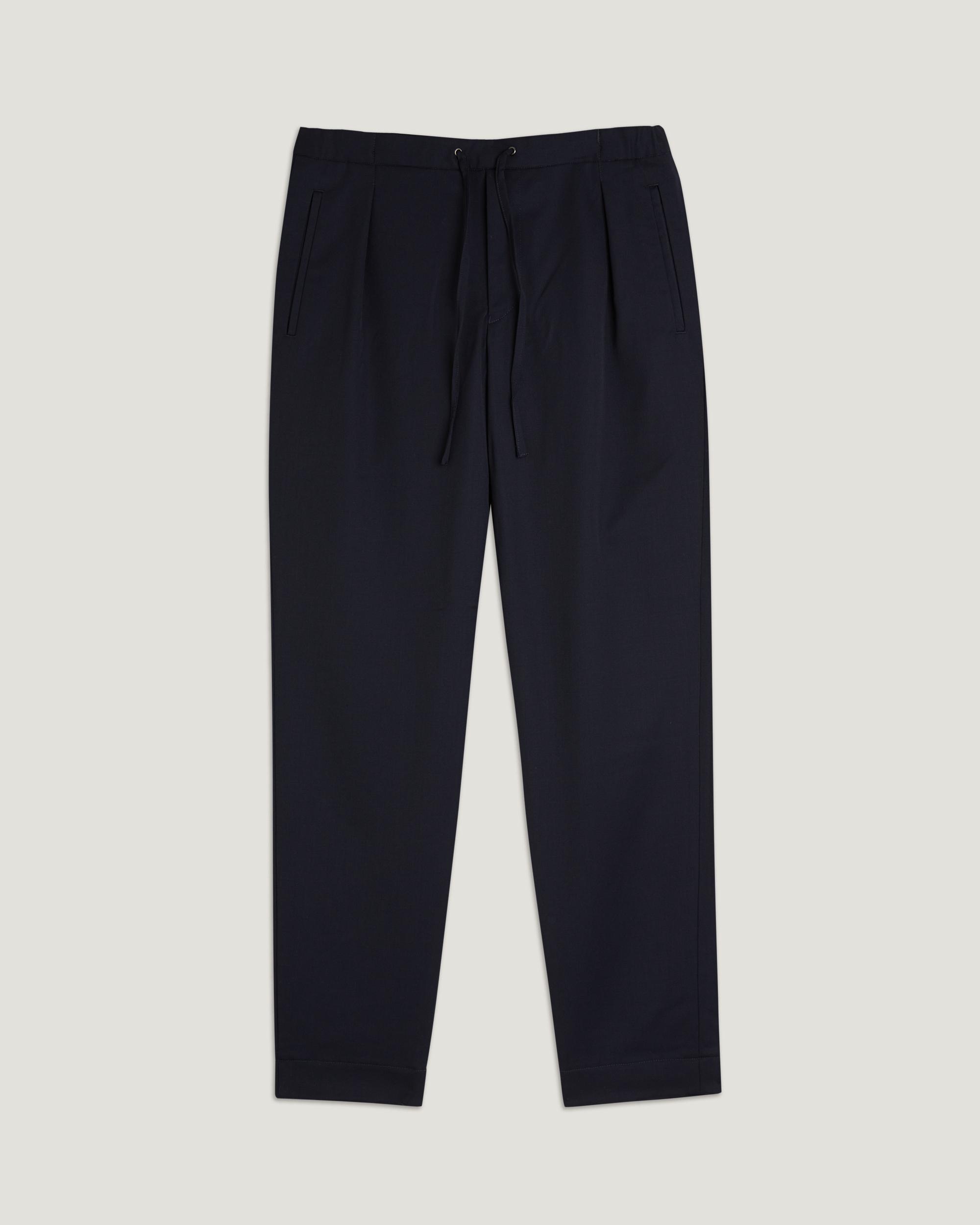 Easy Cotton-twill Trousers - Midnight blueCamoshita Original Prix Pas Cher qkPQCN
