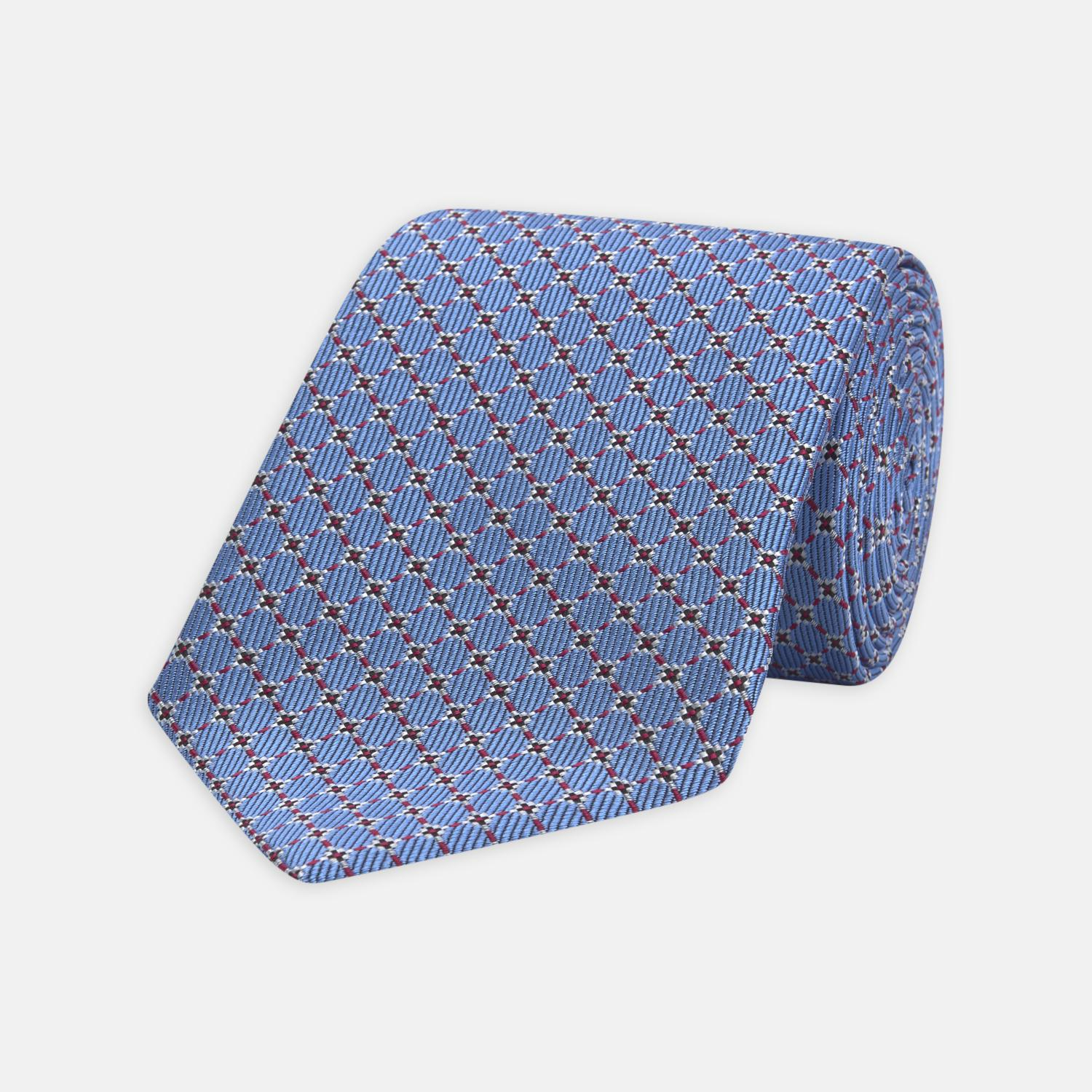 Cheap Sale Lowest Price Navy and Yellow Floral and Puppytooth Jacquard Weave Silk Tie Turnbull & Asser Cheap Sale New Arrival Popular For Sale Cheap Buy Authentic 1JLdr3