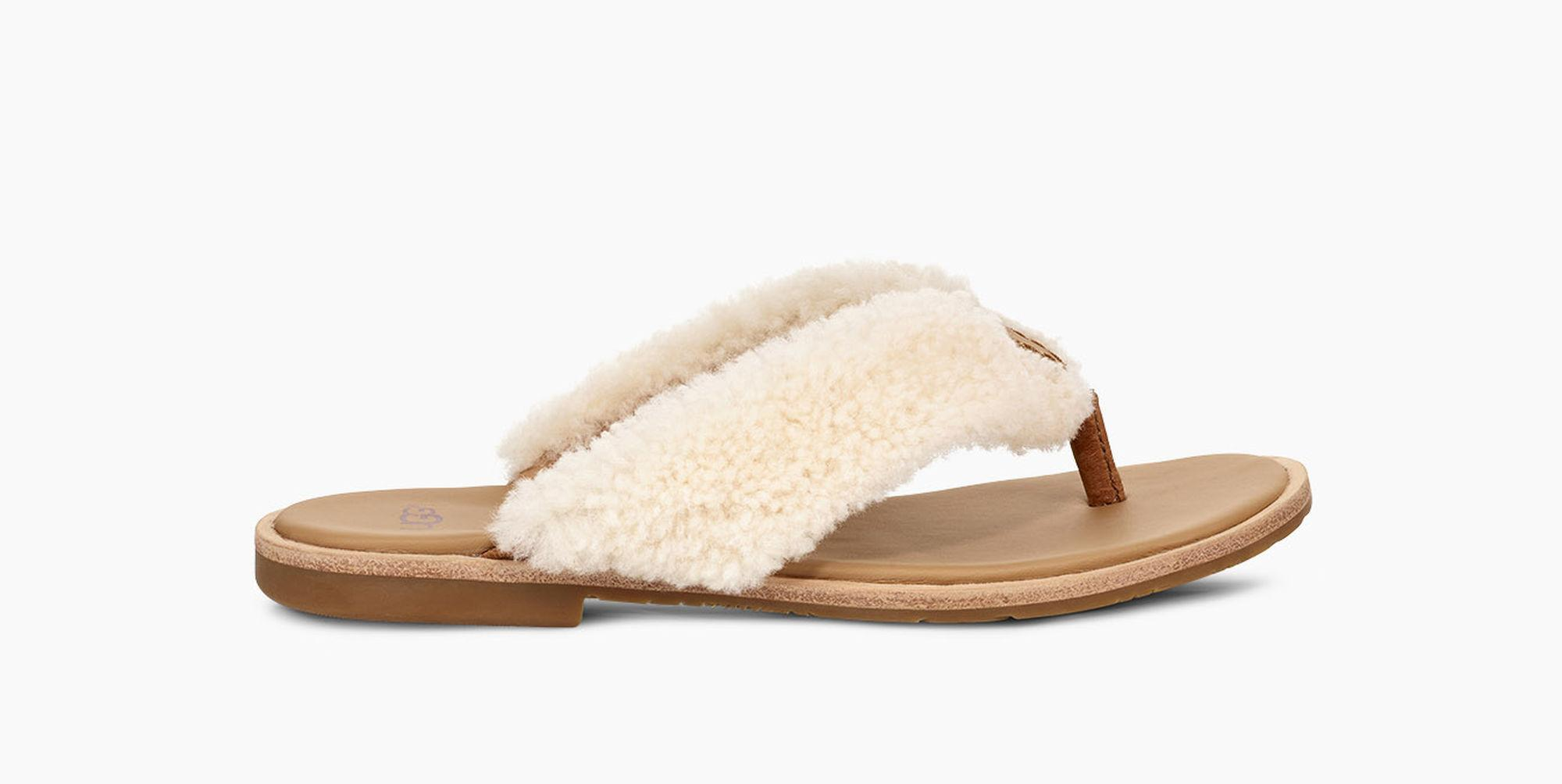 ac32ace4861 Lyst - UGG Women's Alicia Flip Flop in Natural