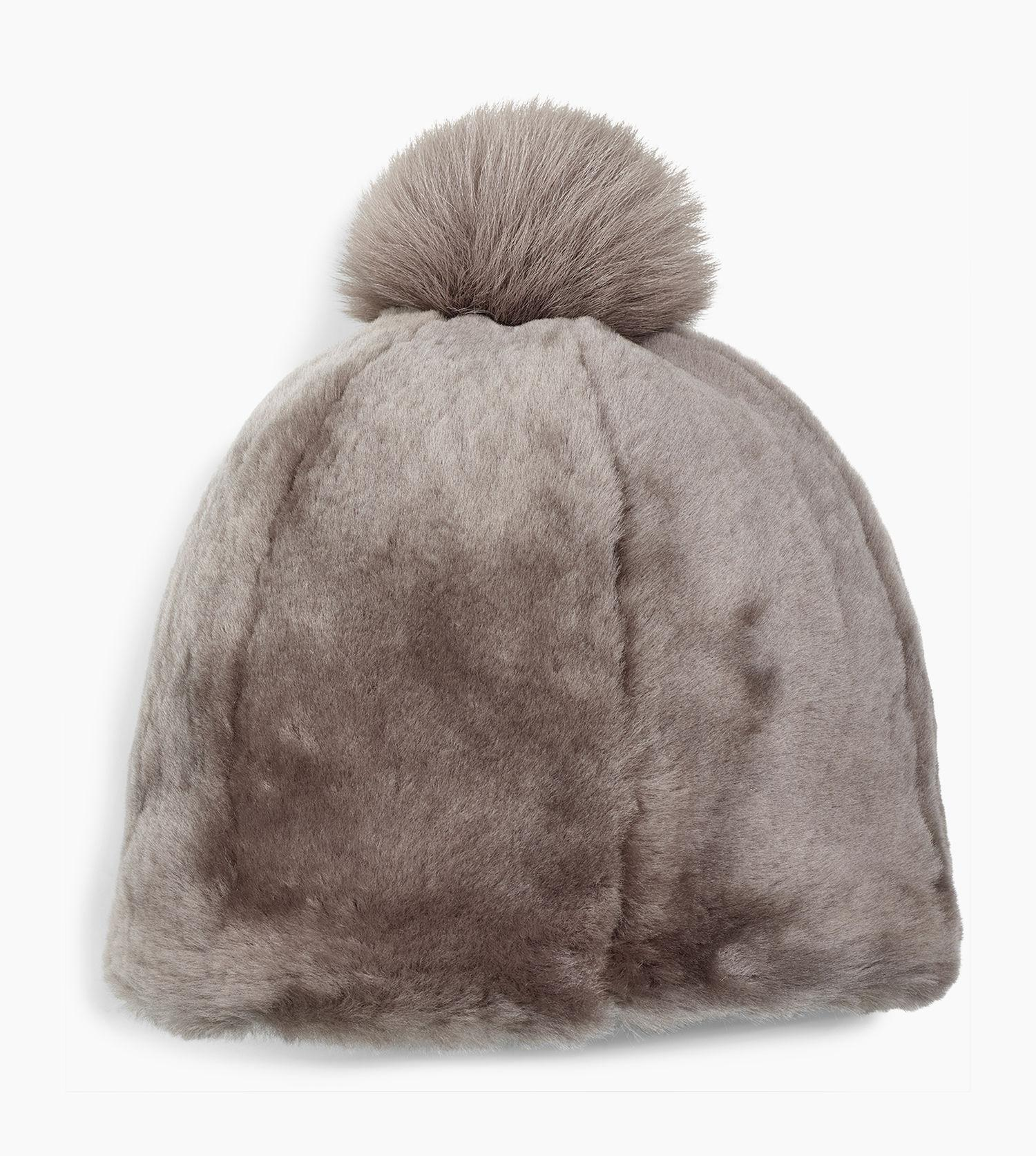 27b67c28044bd UGG Women s Solid Sheepskin Beanie in Brown - Lyst