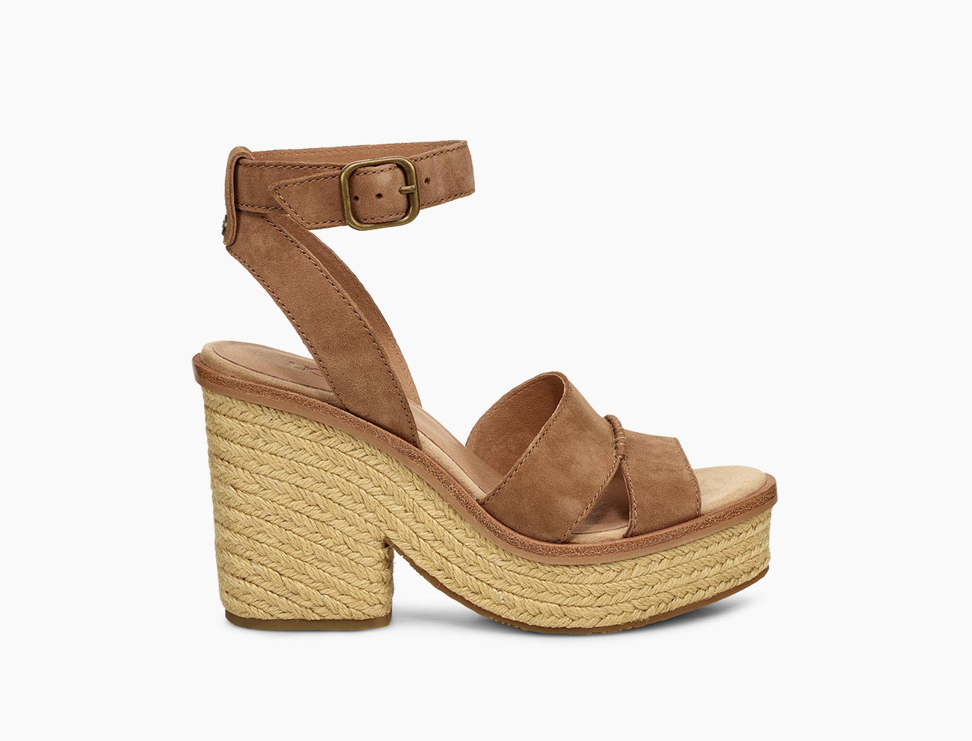 247a042ac65 Lyst - UGG Women s Carine Block Heel Sandal in Brown