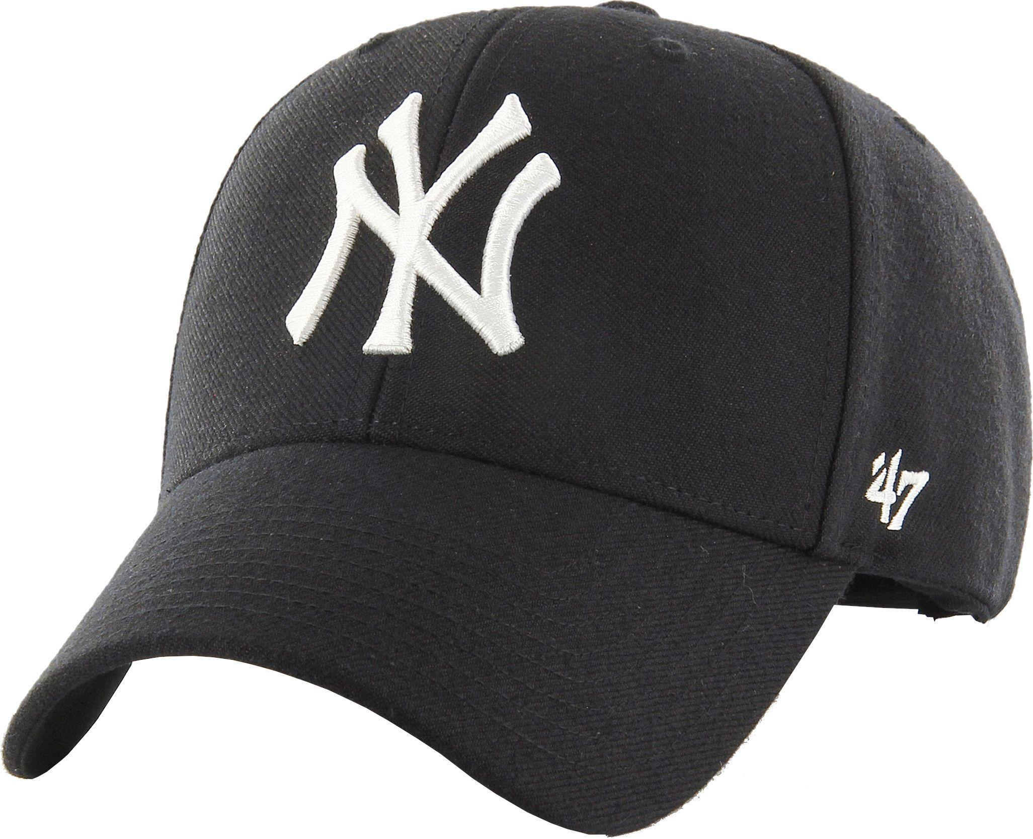 201613b0a56b15 47 Brand New York Yankees '47 Mvp Adjustable Baseball Cap in Black ...
