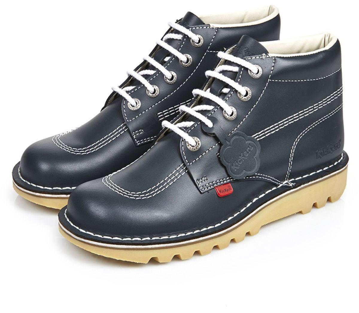 40564aa81e Kickers - Mens Kick Hi Classic Shoes Blue for Men - Lyst. View fullscreen