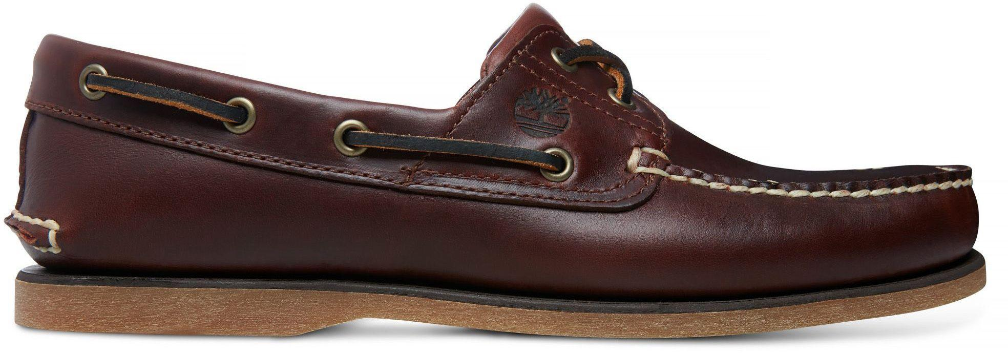 754534605 Timberland Classic 2-eye Boat Shoes Brown in Brown for Men - Lyst