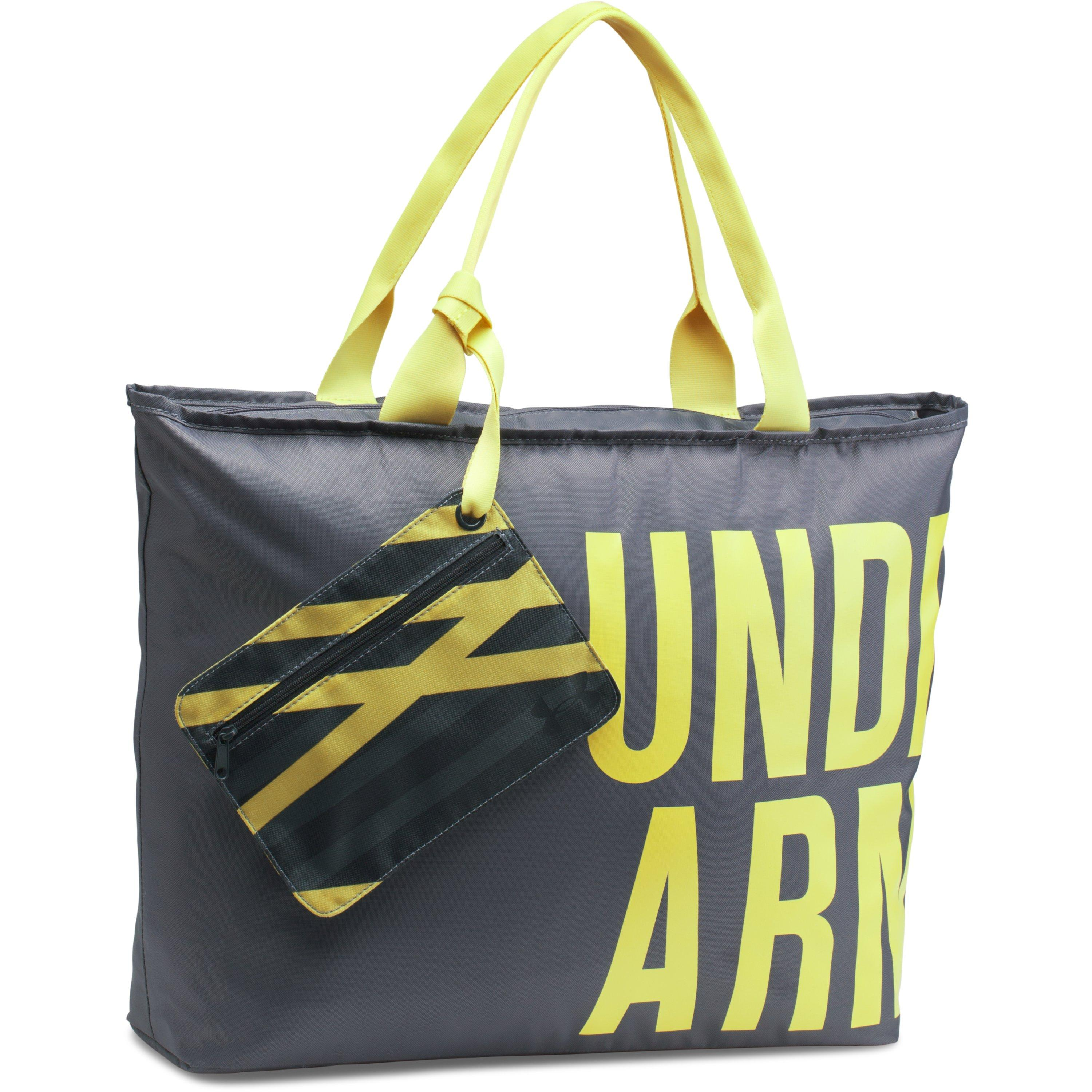 d5e59dd95f Lyst - Under Armour Ua Big Wordmark Tote in Yellow
