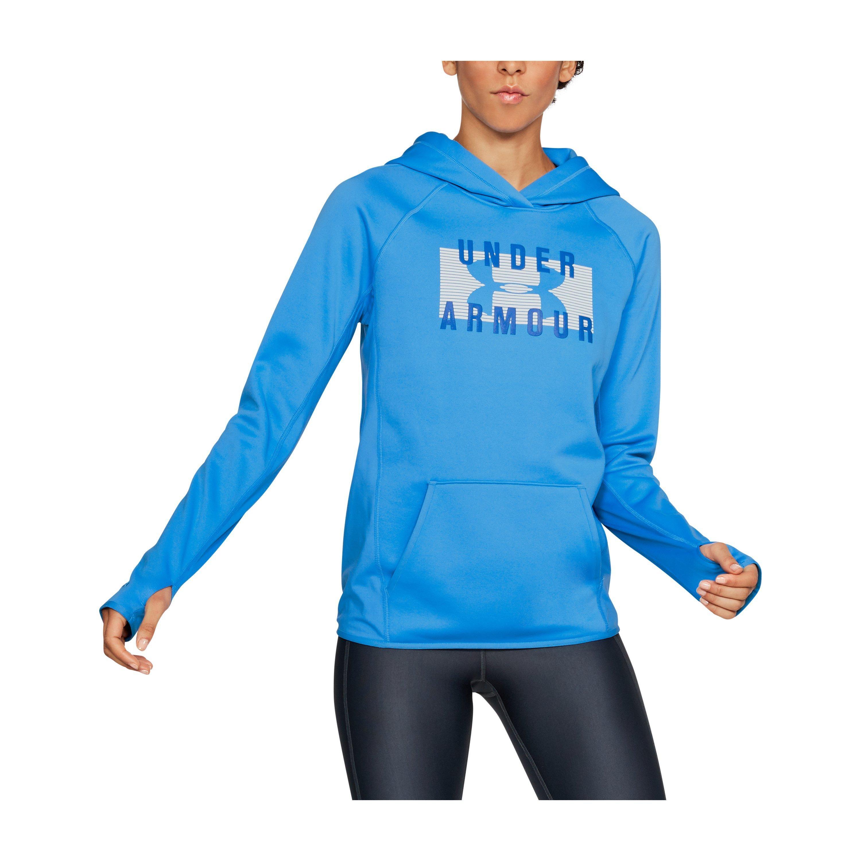 321882151 Under Armour Women's Ua Storm Armour® Fleece Big Logo Hoodie in Blue ...