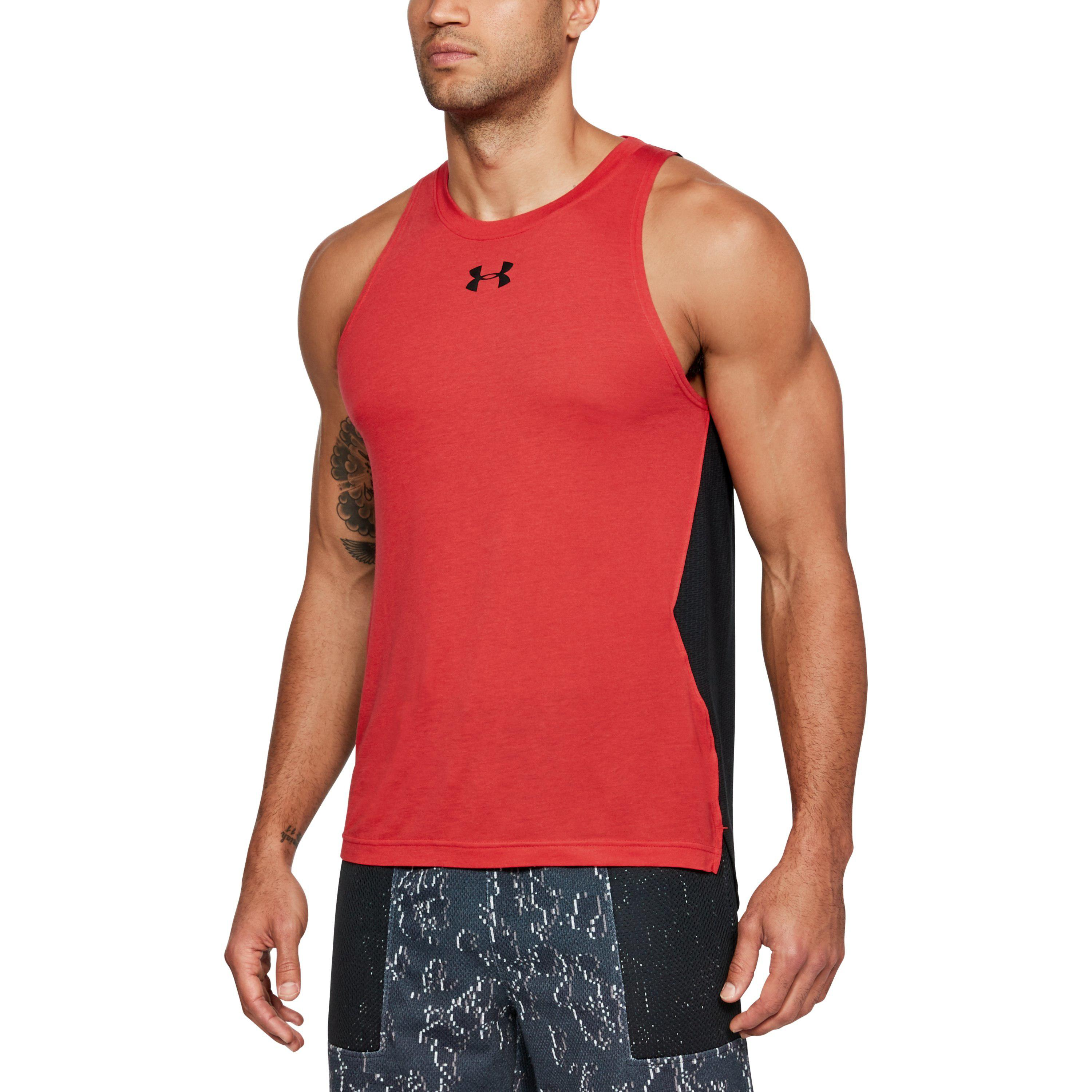 new concept 00f70 1d32f Under Armour Men s Ua Baseline Performance Tank in Red for Men - Lyst
