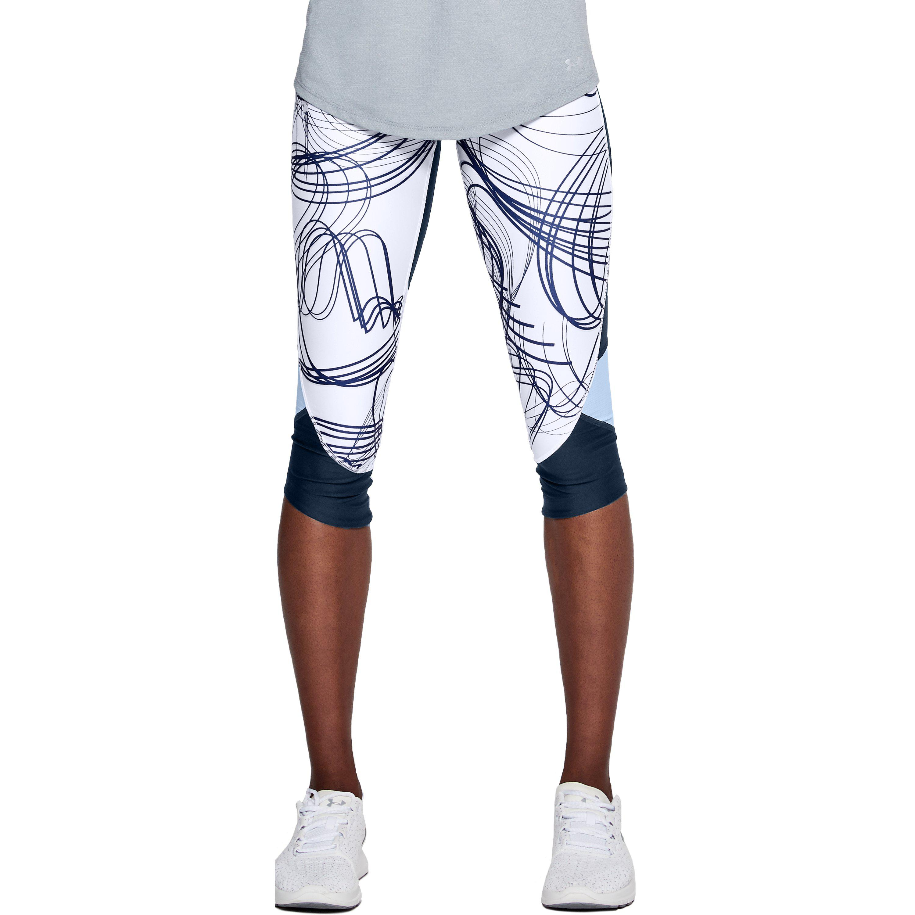 34905d9428a58a Under Armour Women's Ua Armour Fly Fast Printed Capri in Blue - Lyst