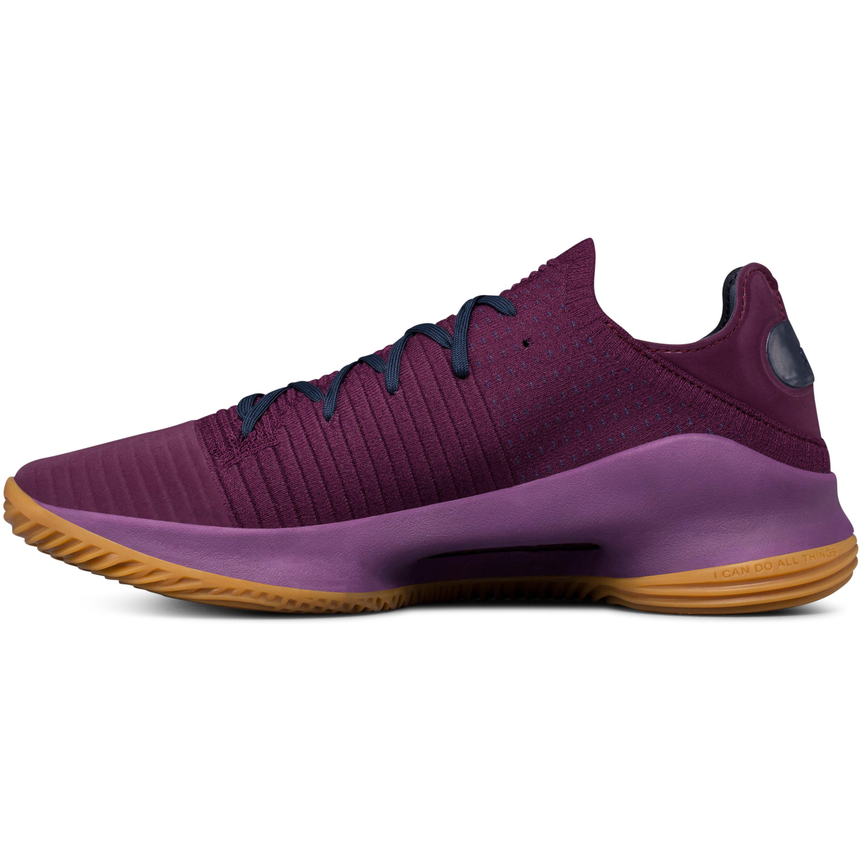 reputable site 1fec2 ac64a under armour curry 2 purple brown