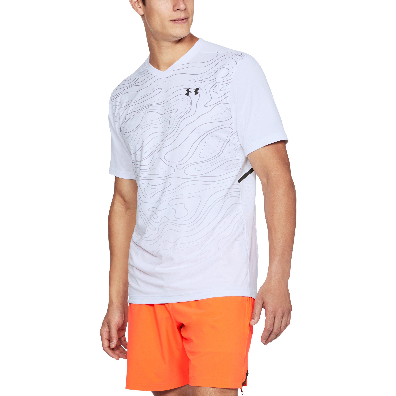 0ec12550 Under Armour Men's Ua Forge V-neck Patterned in White for Men - Lyst