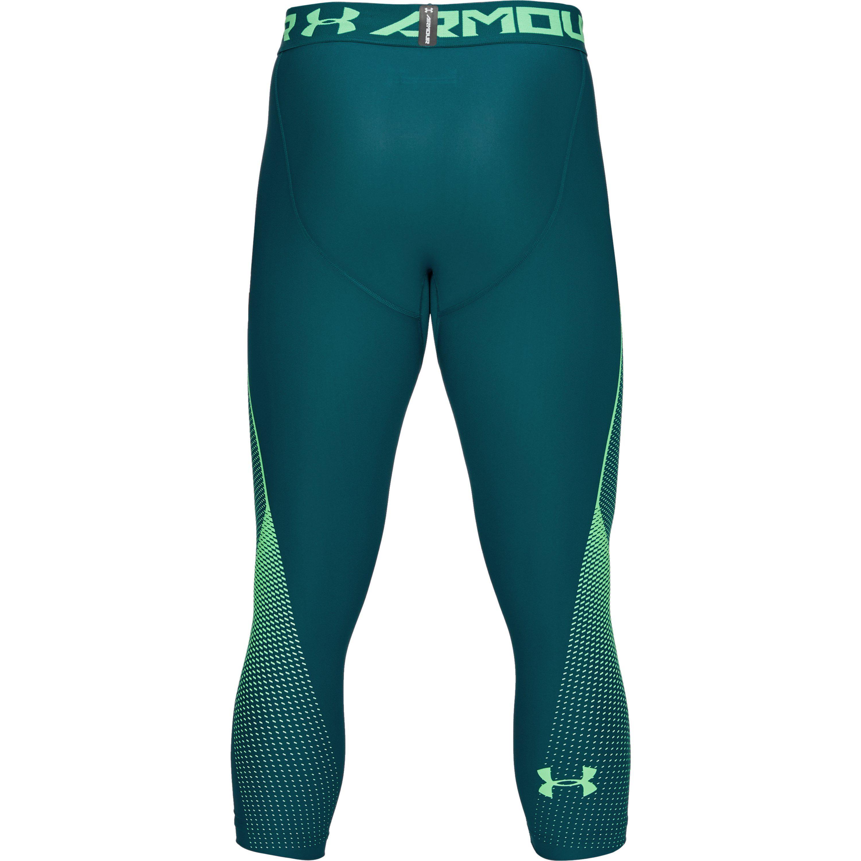 7a6d51ab519fca Under Armour Men's Heatgear® Armour Graphic 3⁄4 Leggings in Green ...