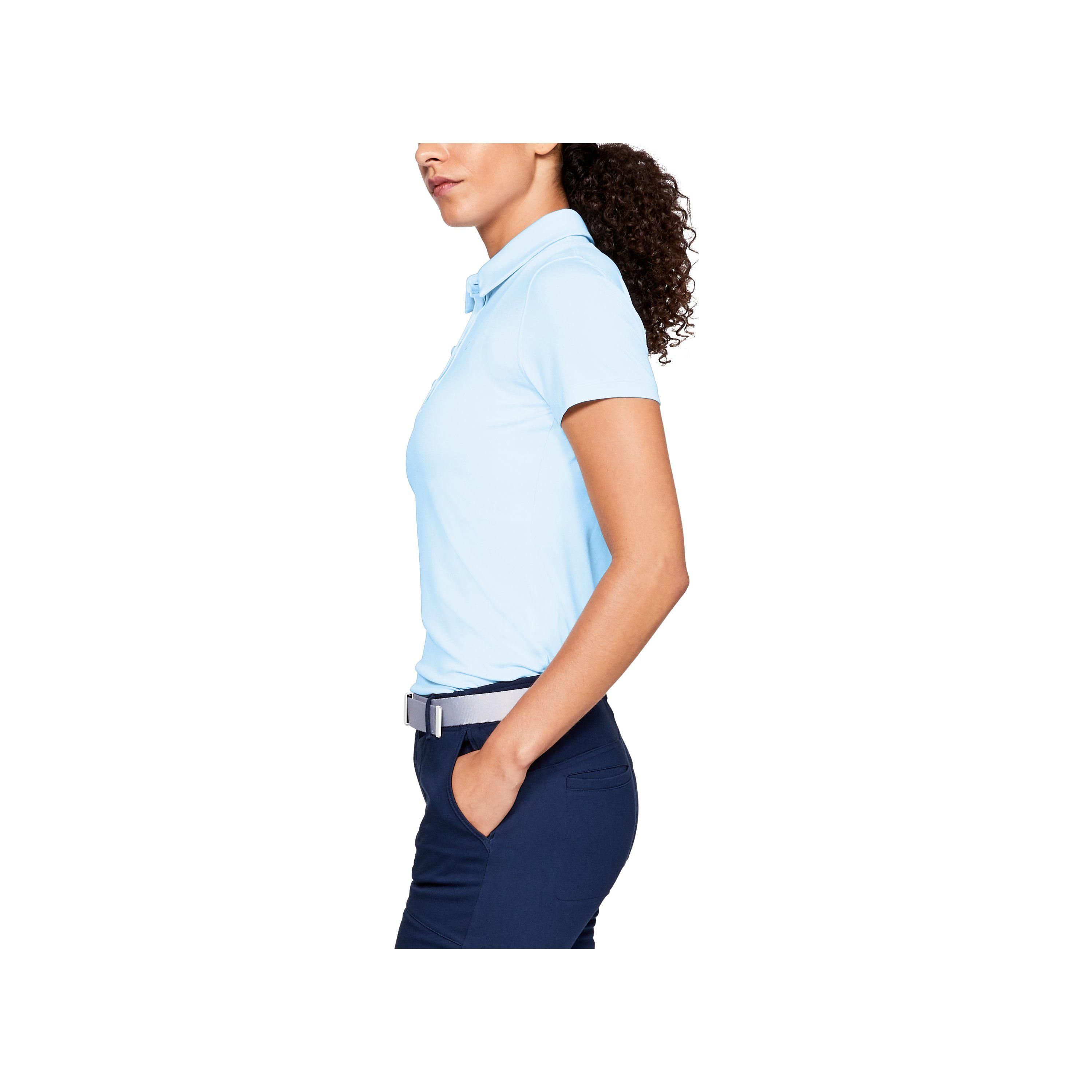 5be86cdf7973 Lyst - Under Armour Women s Ua Zinger Short Sleeve Polo in Blue