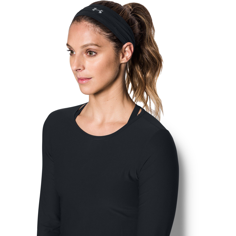 4232f569a48 Lyst - Under Armour Women s Ua Sweat Diverter Headband in Black
