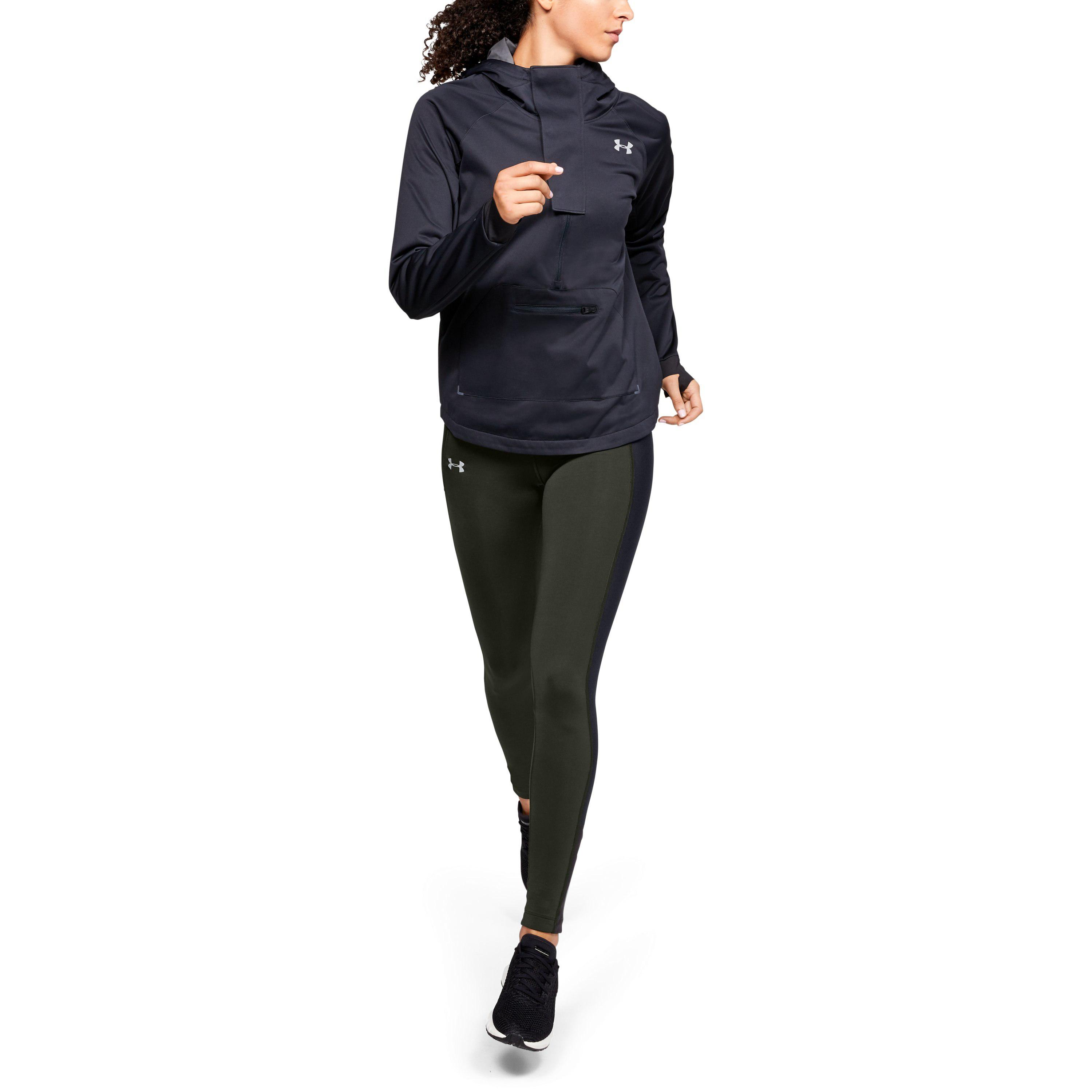 d5870d9558ef8 Under Armour Women's Coldgear Run Storm Tights in Black - Lyst
