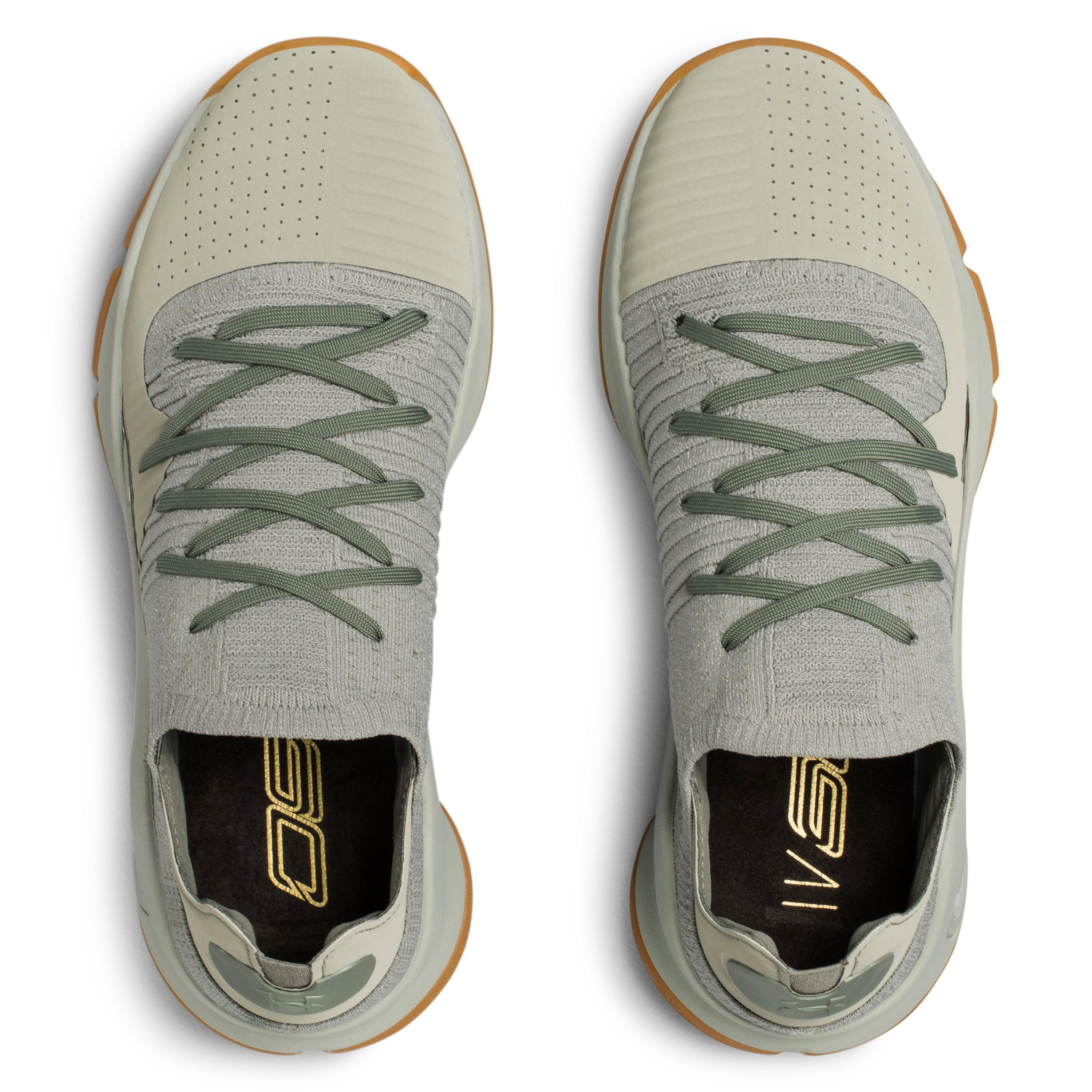 ed0463f98620 ... order lyst under armour mens ua curry 4 low basketball shoes in green  e0f9f 74ed6