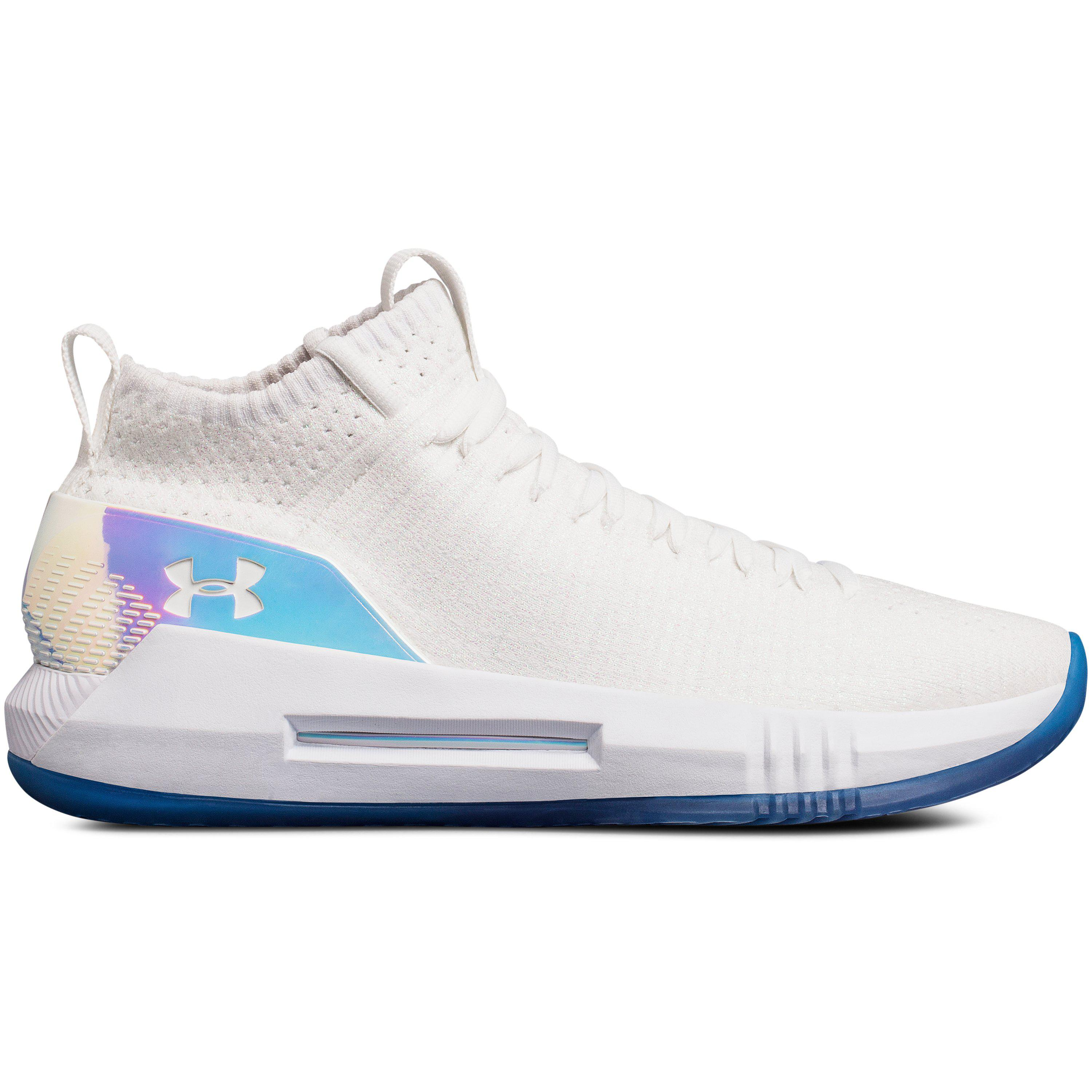 d77ec515f918 Under Armour Men s Ua Team Heat Seeker Basketball Shoes in White for ...