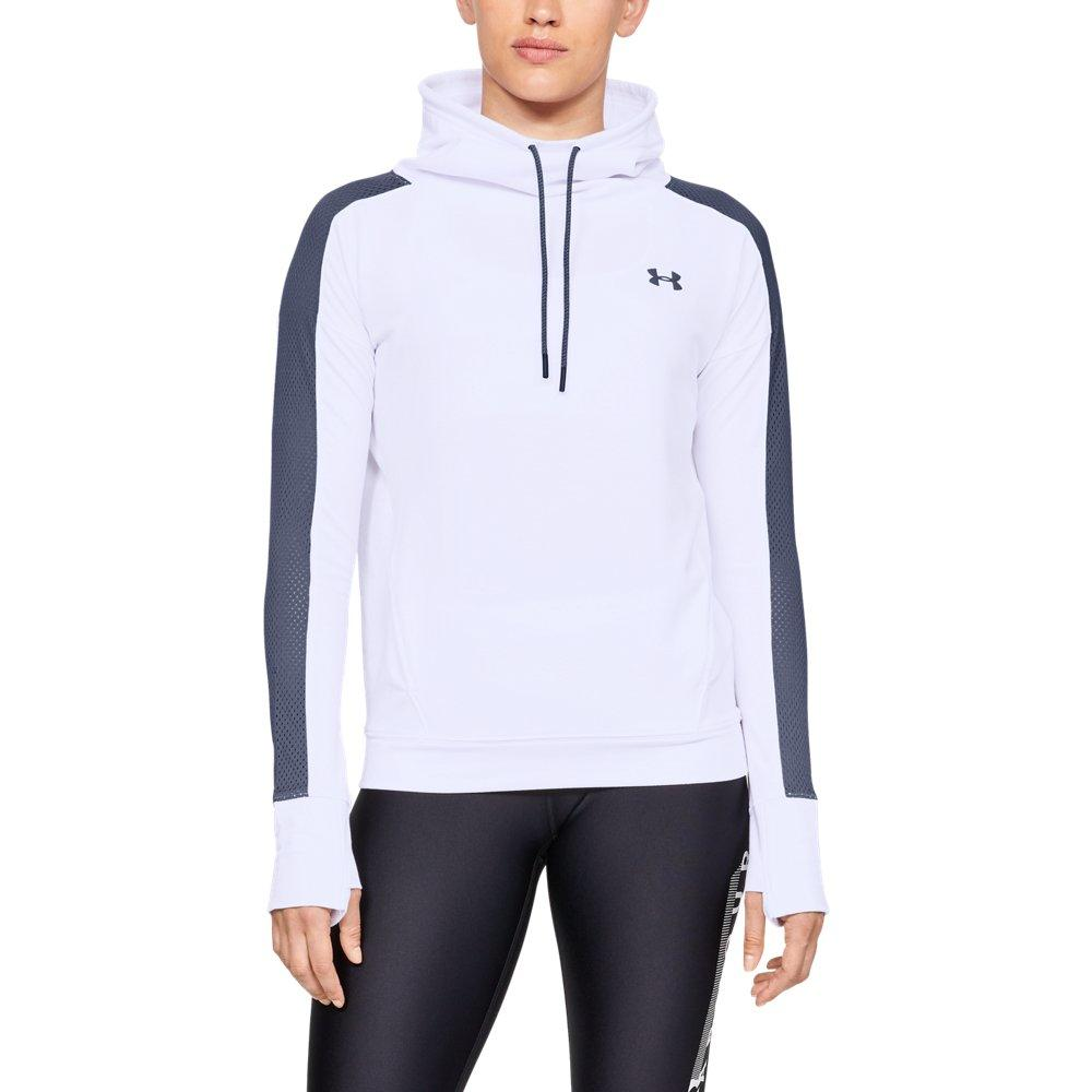 a7a961a93f56 Lyst - Under Armour Featherweight Fleece Funnel Neck in White - Save 25%