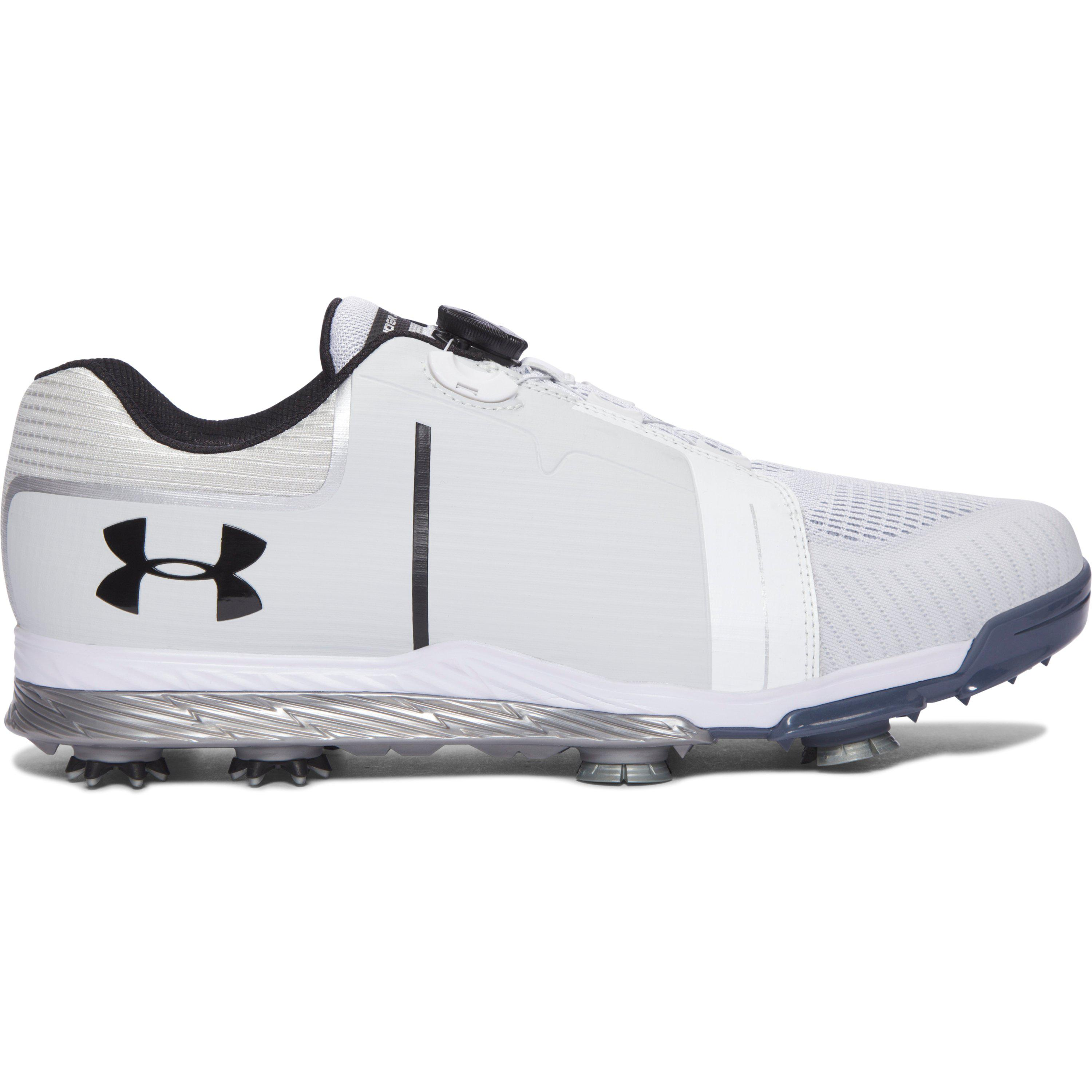 Under Armour TEMPO TRAINER - Sports shoes - black/white 7YcFDG