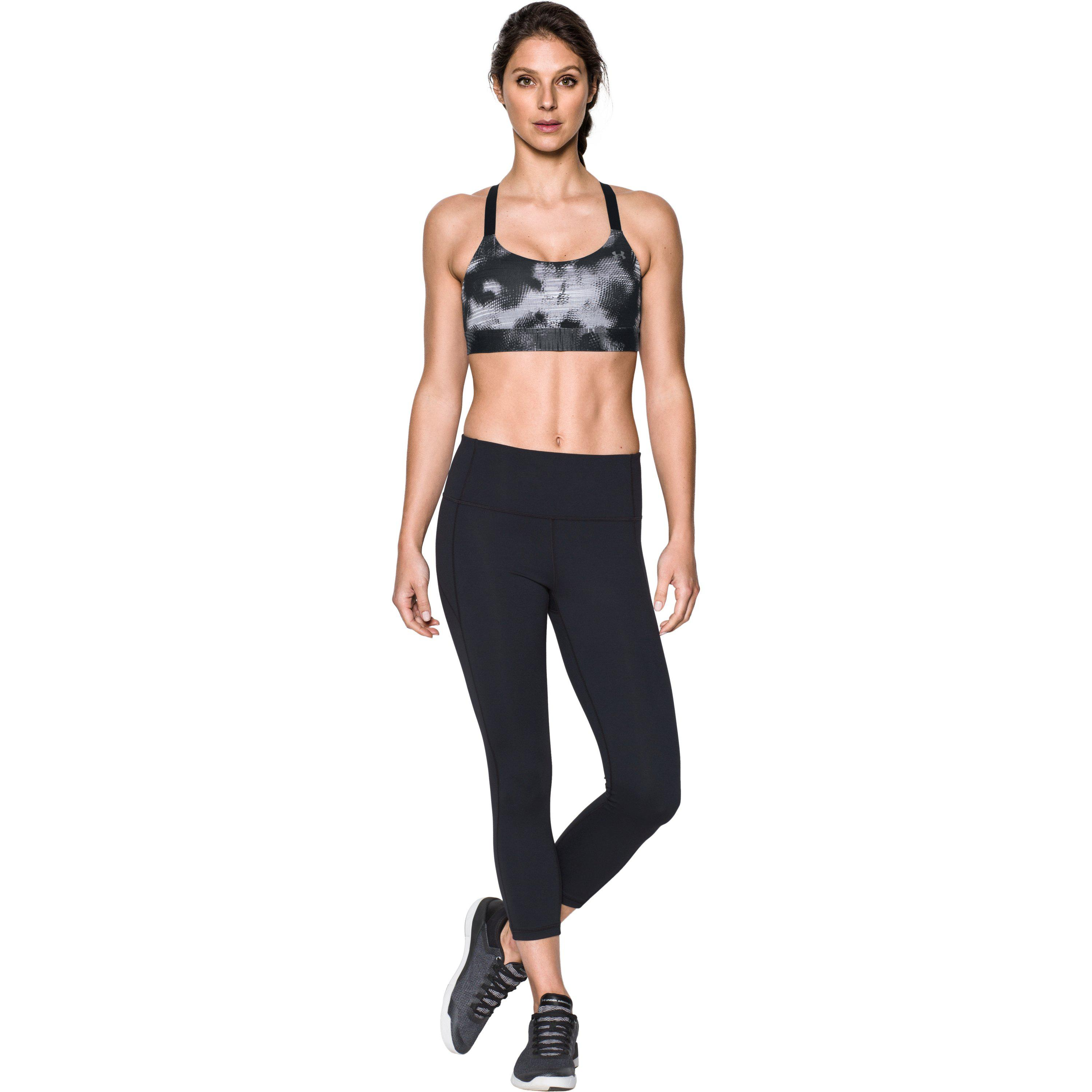 b5f6f27927 Lyst - Under Armour Women s Armour® Eclipse Mid — Printed Sports Bra ...