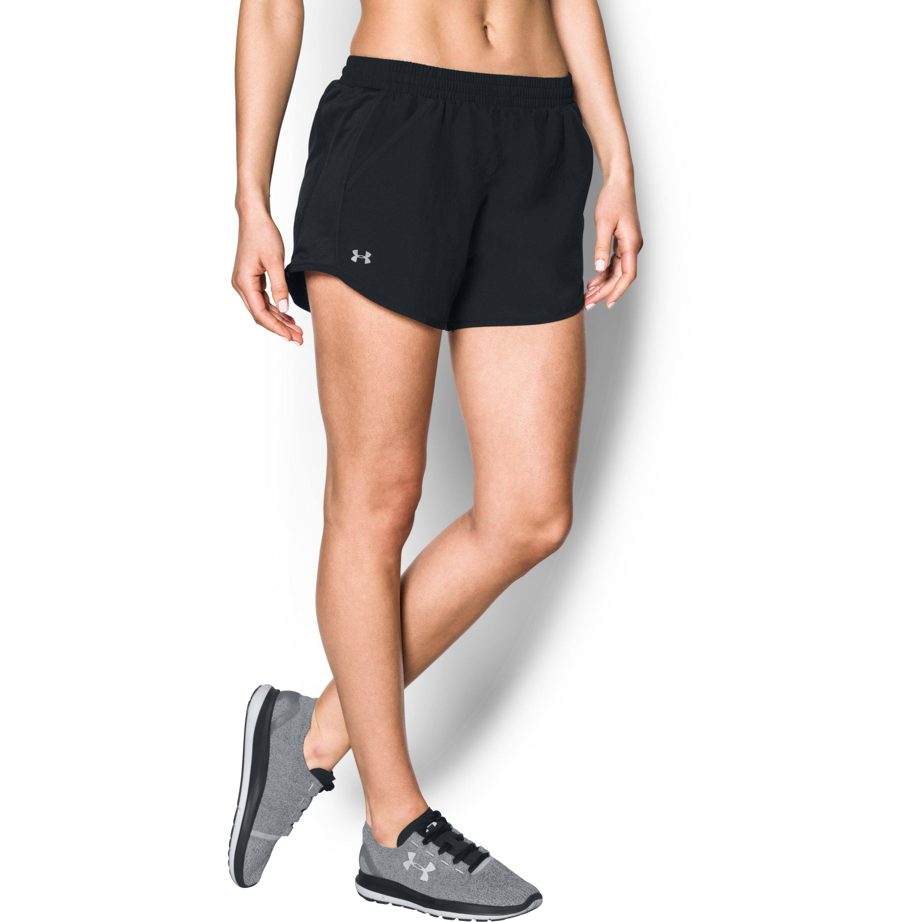 aed024240ebd Lyst - Under Armour Women s Ua Fly-by Shorts in Black