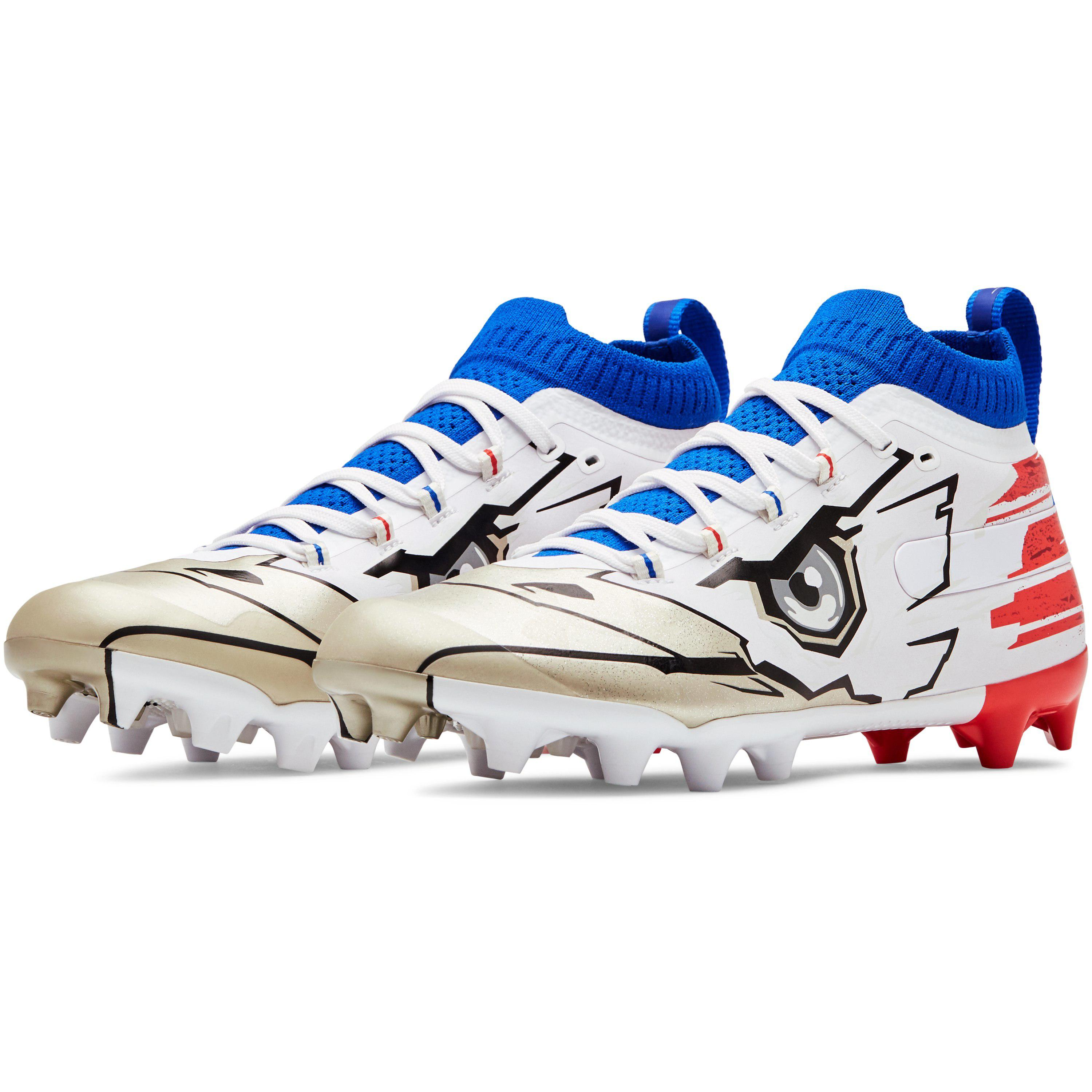 7a6bf8d359e Under Armour Spotlight-limited Edition Football Shoe in Blue for Men ...