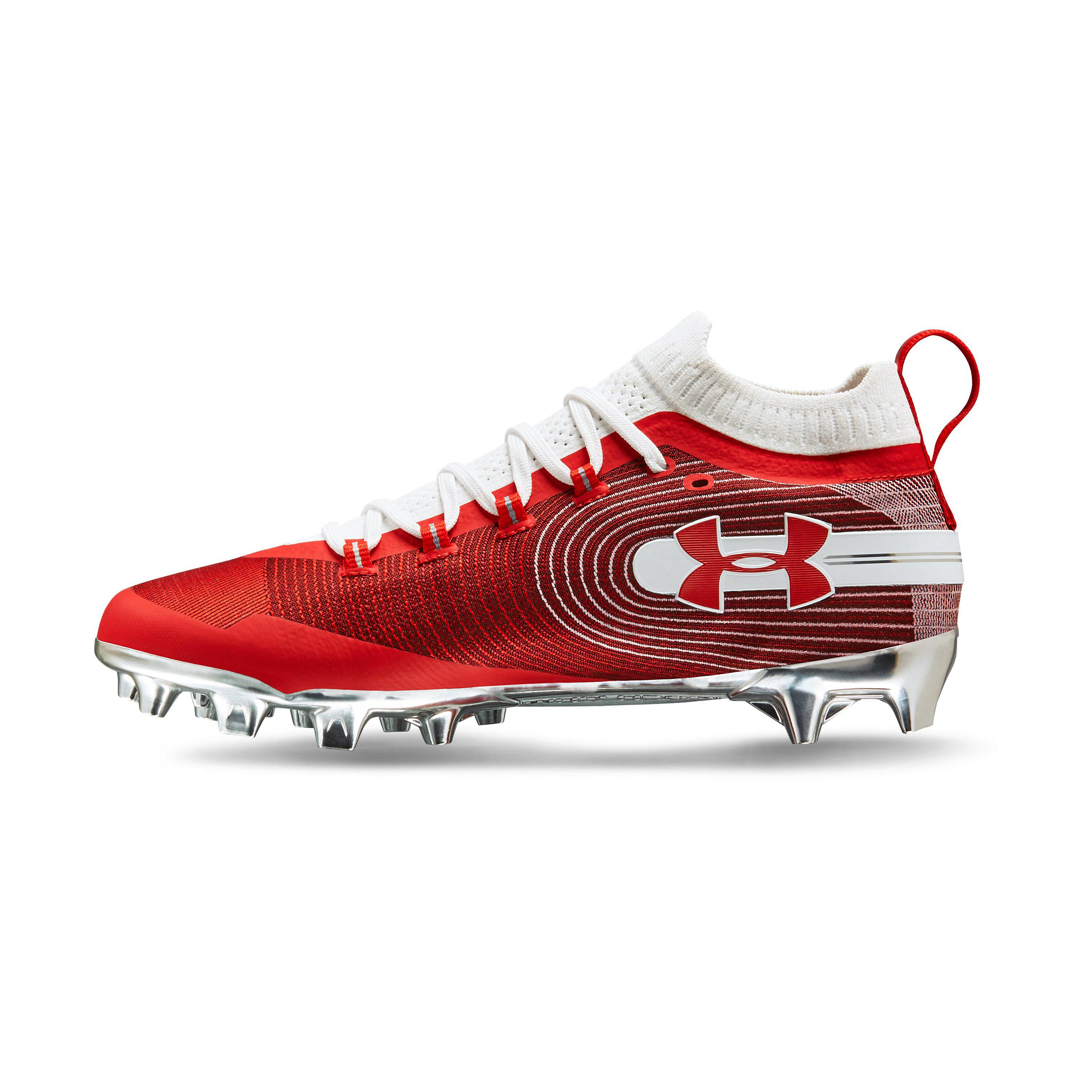 8453f0df50c4 Under Armour Men's Ua Spotlight Mc Football Cleats in Red for Men - Lyst