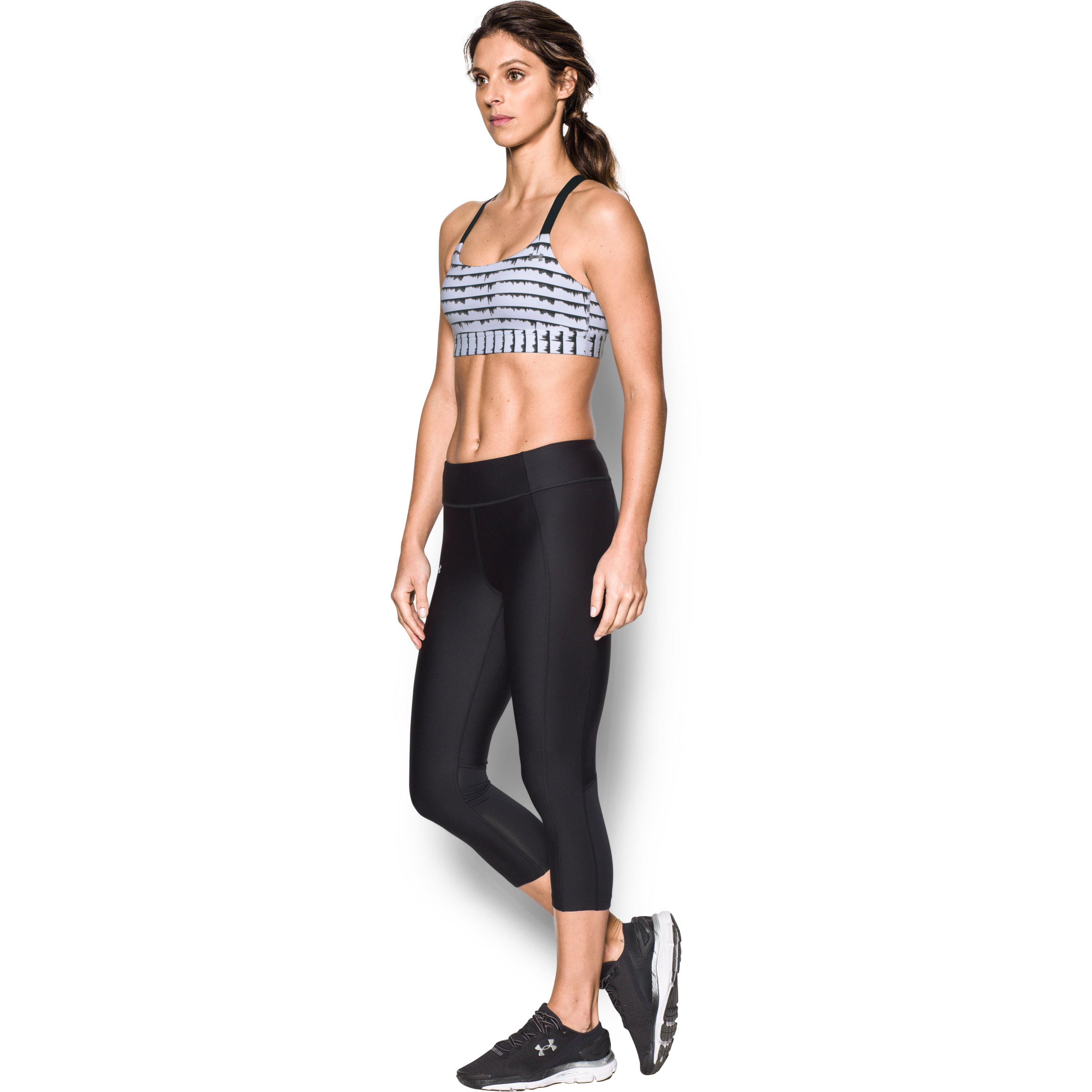 c095b1f6d0 Lyst - Under Armour Women s Armour® Eclipse Printed Sports Bra in Black
