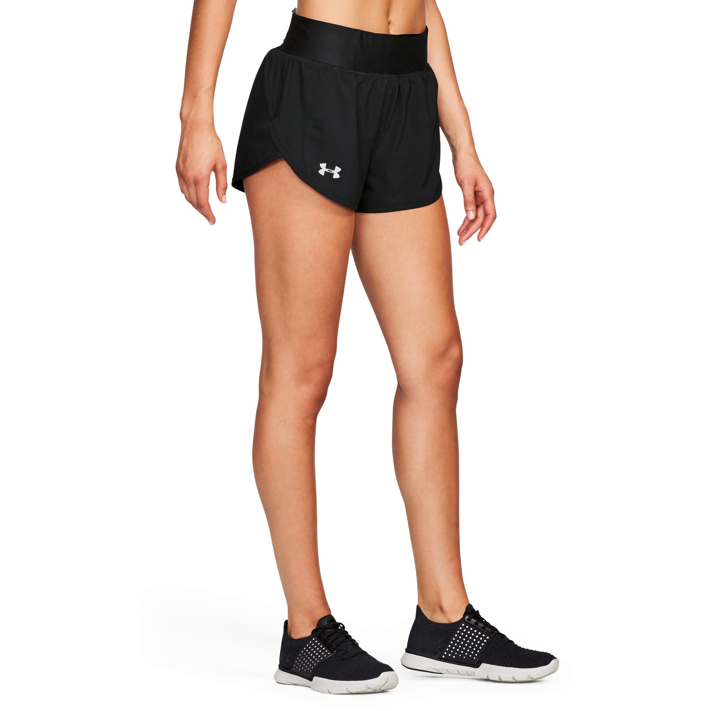 485c0e671 Under Armour Women's Ua Launch Tulip Speedpocket Shorts in Black - Lyst