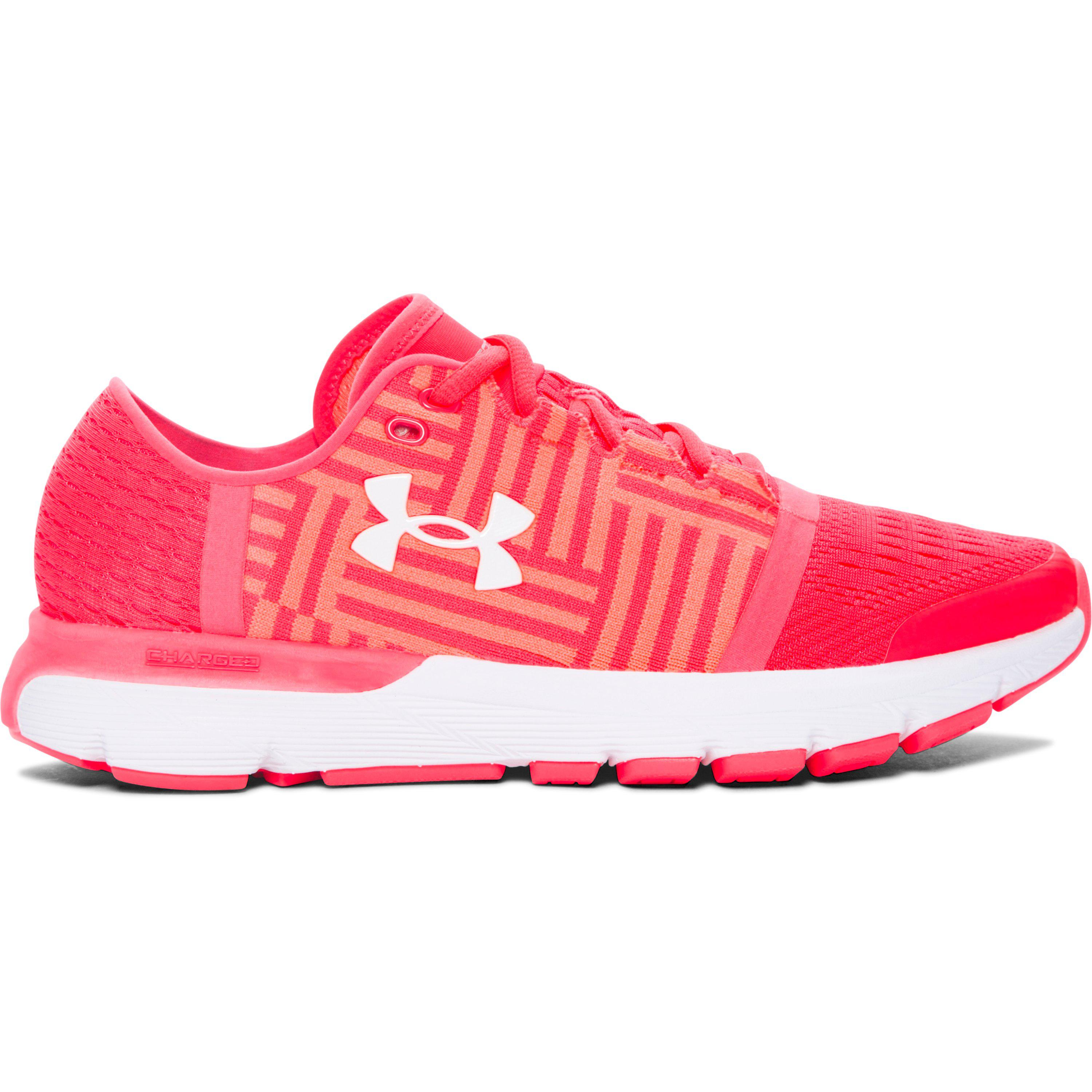 Under Armour Pink Womens Ua Speedform Gemini 3 Running Shoes