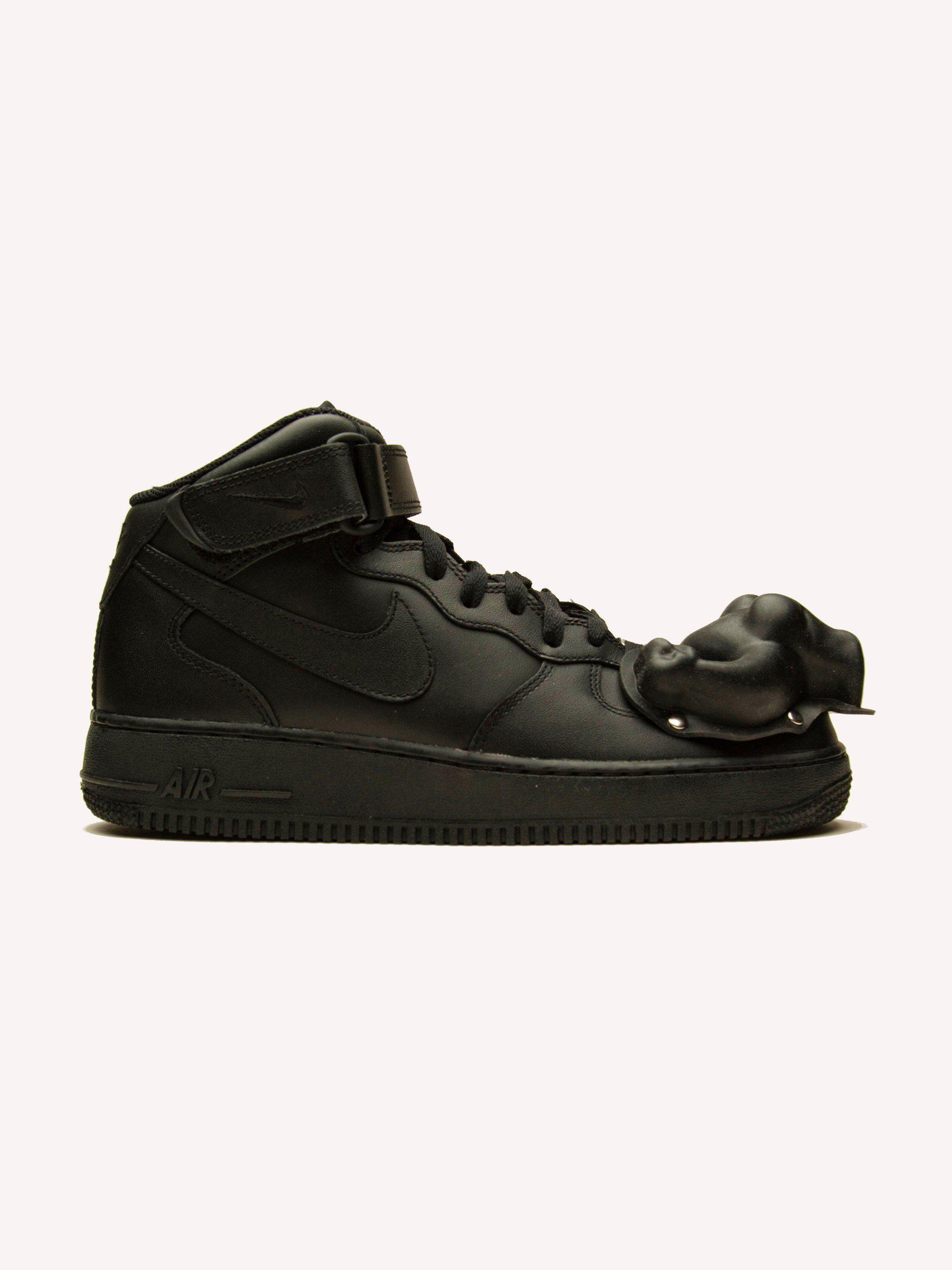 Comme des Gar?ons Black Nike Edition Air Force 1 Mid '07 Sneakers Faire Du Shopping Meilleurs Prix Meilleur Gros Pas Cher XjZpf3