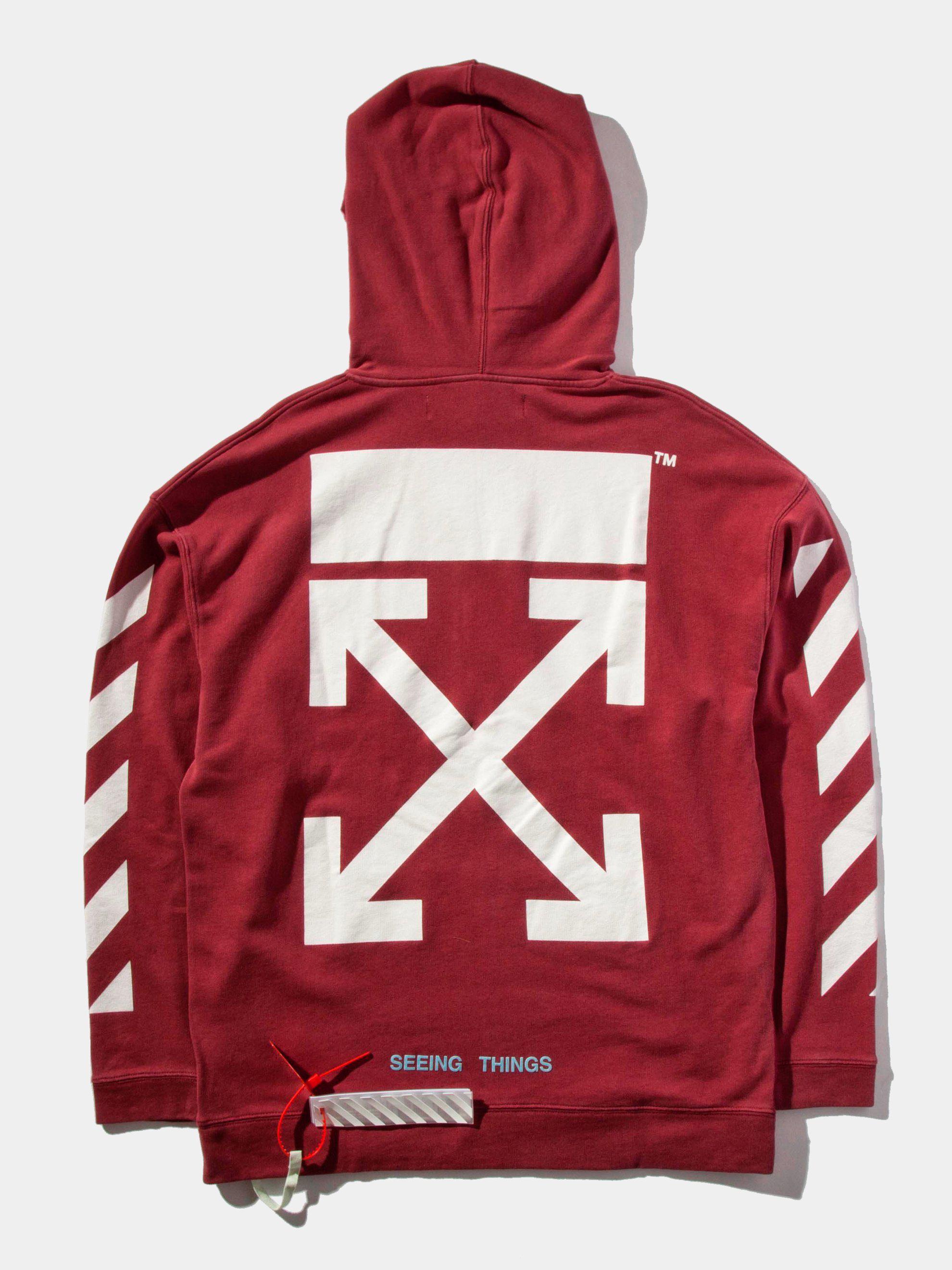75ad68ceea872 Lyst - Off-White c o Virgil Abloh Diag Arrows Hooded Sweatshirt in ...